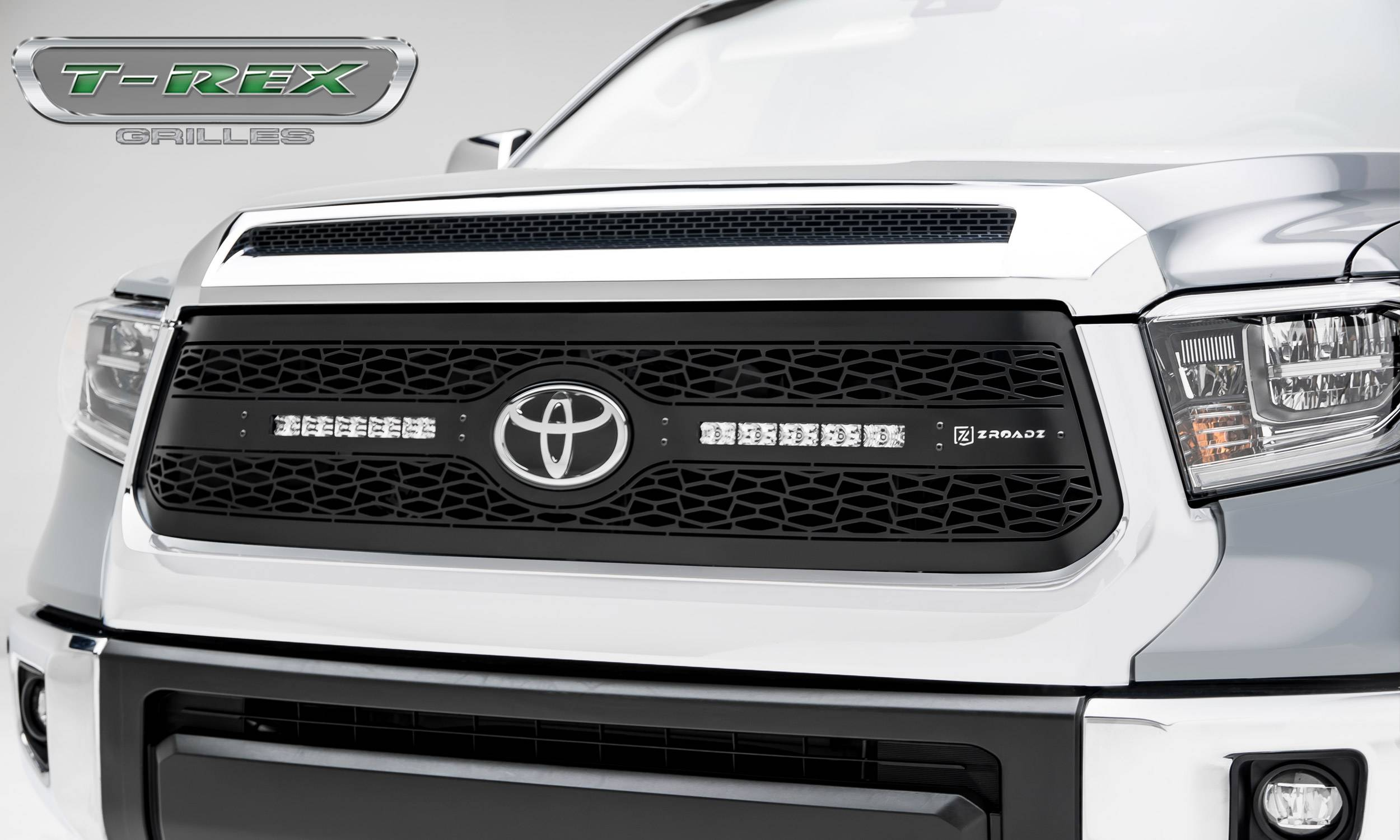 2018-2021 Tundra ZROADZ Grille, Black, 1 Pc, Replacement with (2) 10