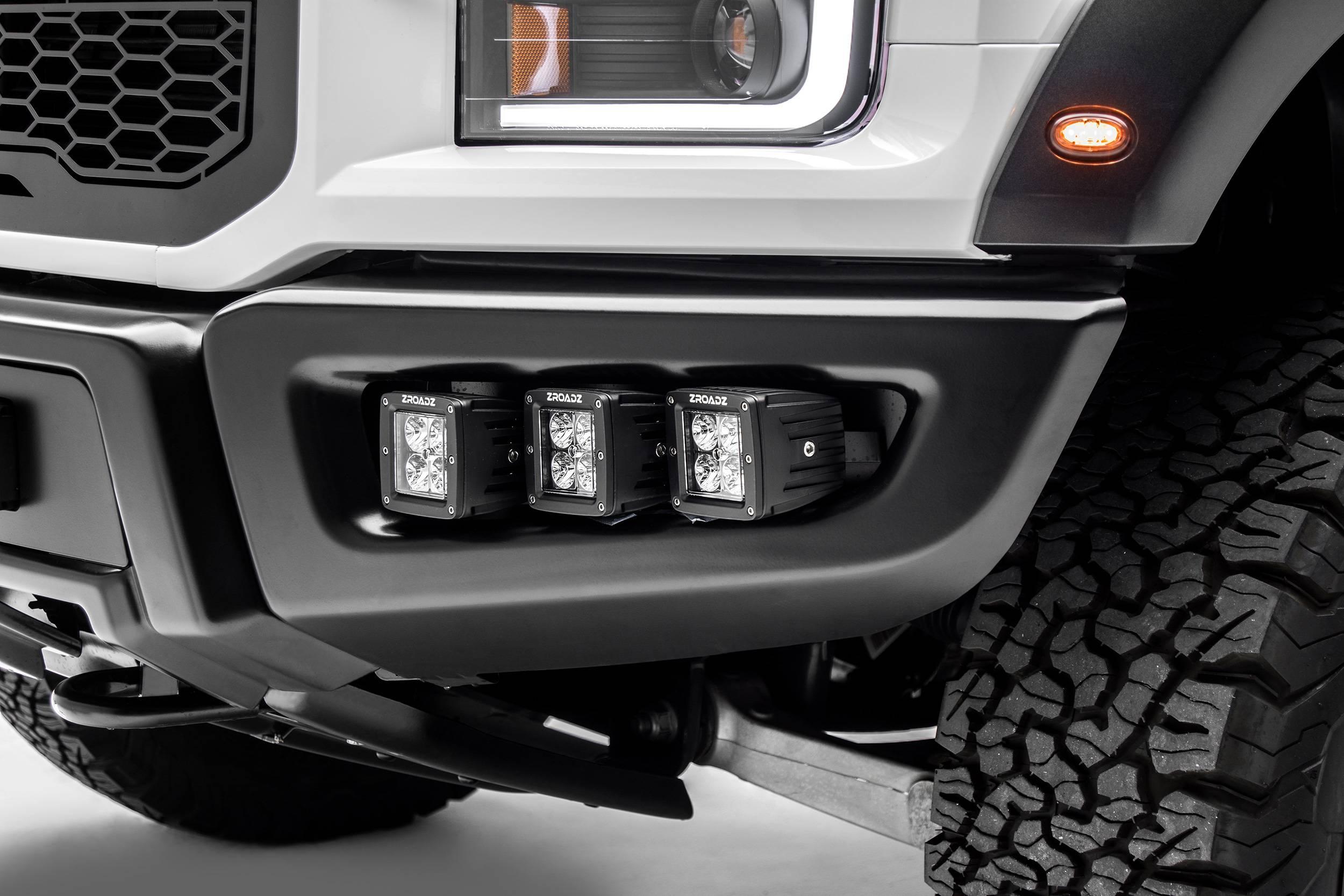 2017 2021 Ford F 150 Raptor Front Bumper Oem Fog Led Kit With 6 3 Inch Led Pod Lights Pn Z325652 Kit