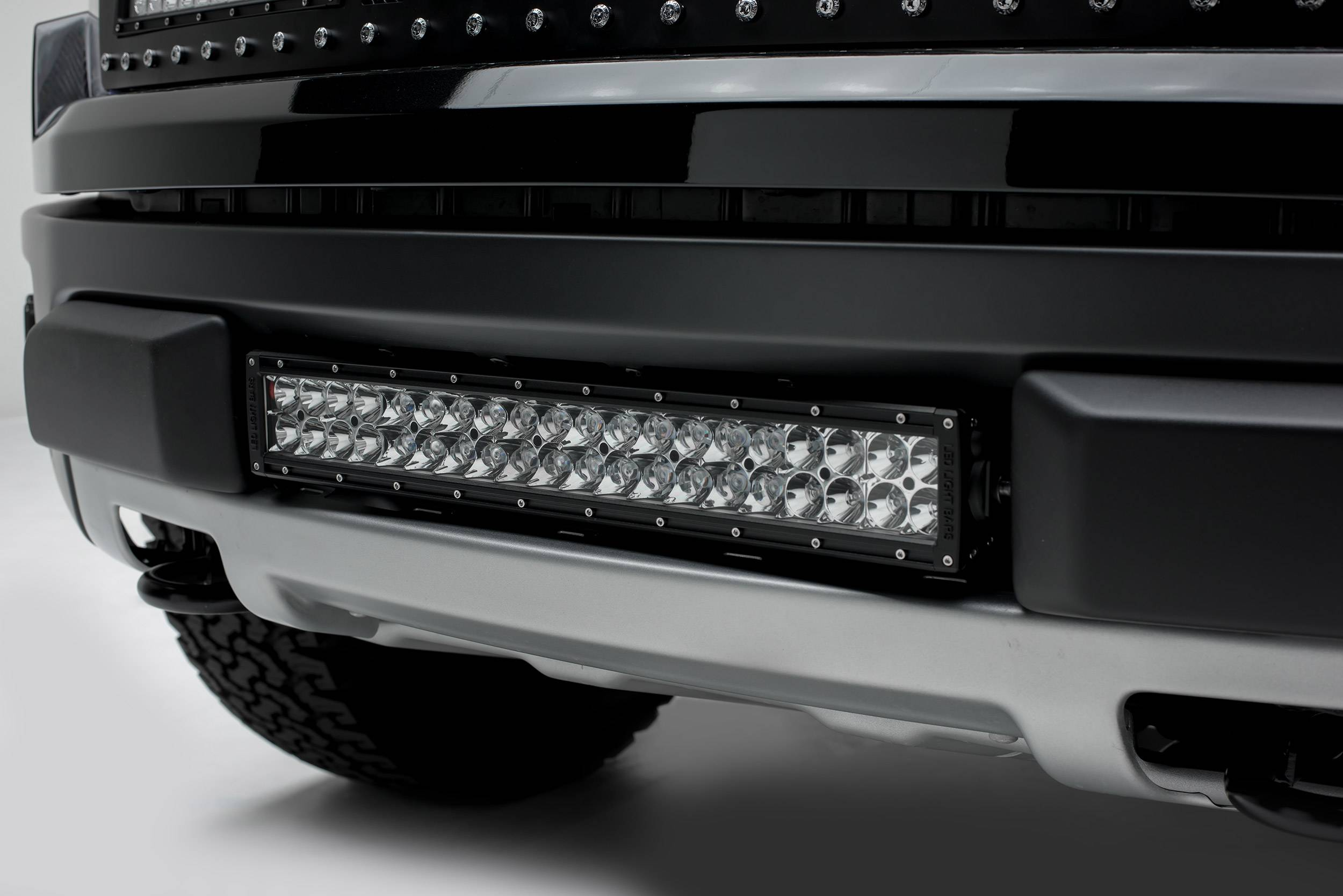 2010-2014 Ford F-150 Raptor Front Bumper Center LED Kit, Incl. (1) 20 Inch LED Straight Double Row L