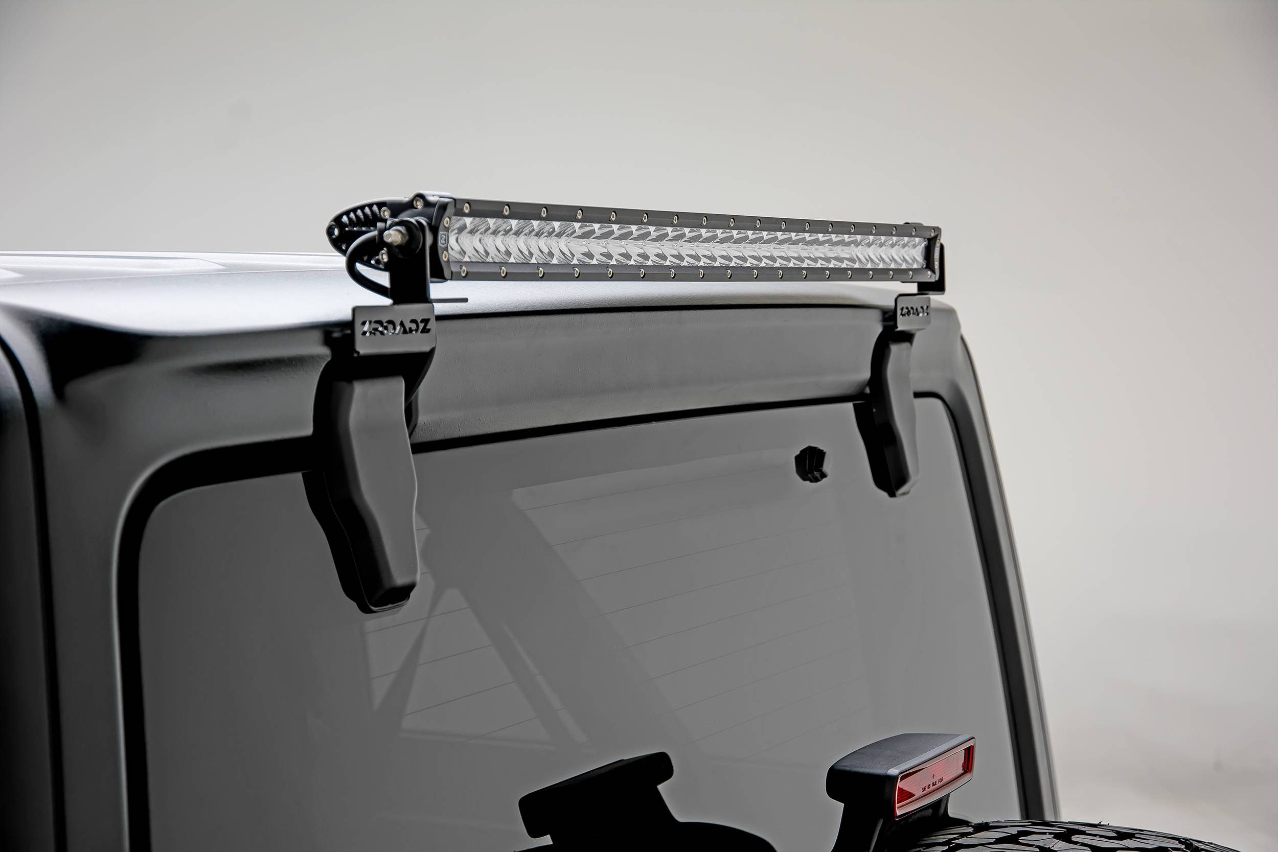 2018 2019 Jeep Jl Rear Window Led Bracket To Mount 1 30 Inch Staight Single Row Led Light Bar Pn Z394931
