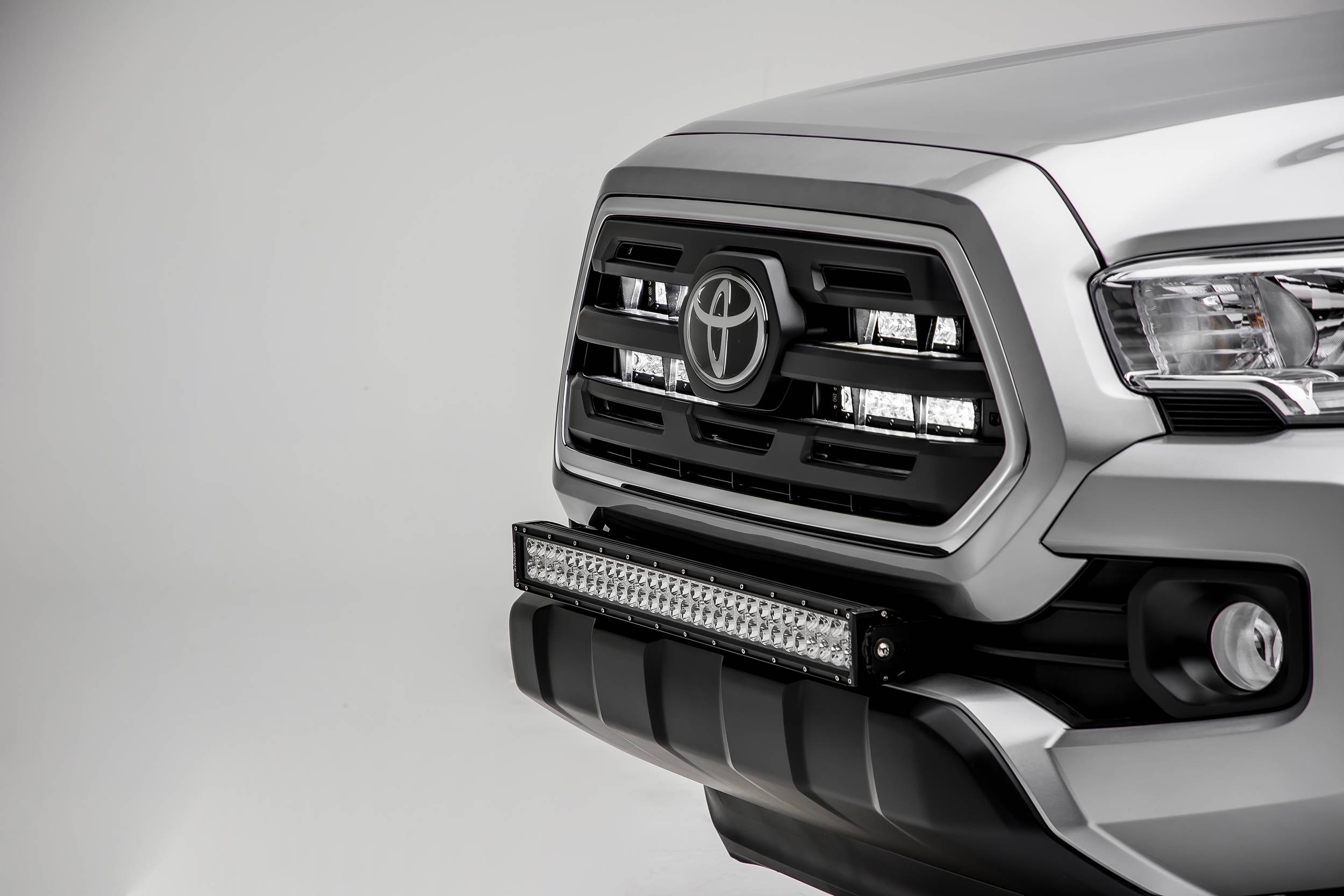 "30-31.5/"" LED Light Bar Lower Bumper Mounting Brackets For Toyota Tacoma Tundra"