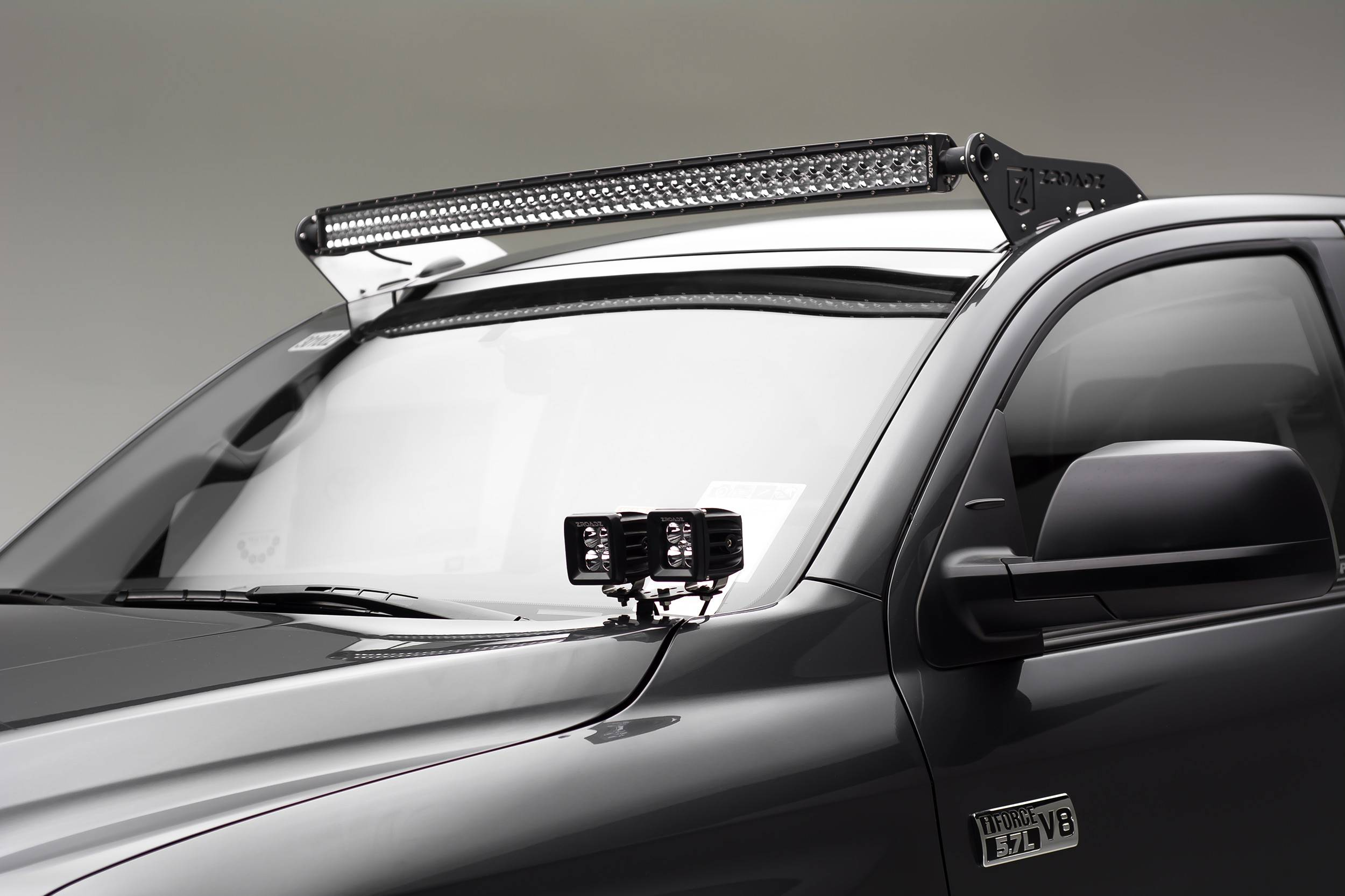 2007 2019 Toyota Tundra Front Roof Led Bracket To Mount 1 50 Inch Curved Led Light Bar Pn Z339641