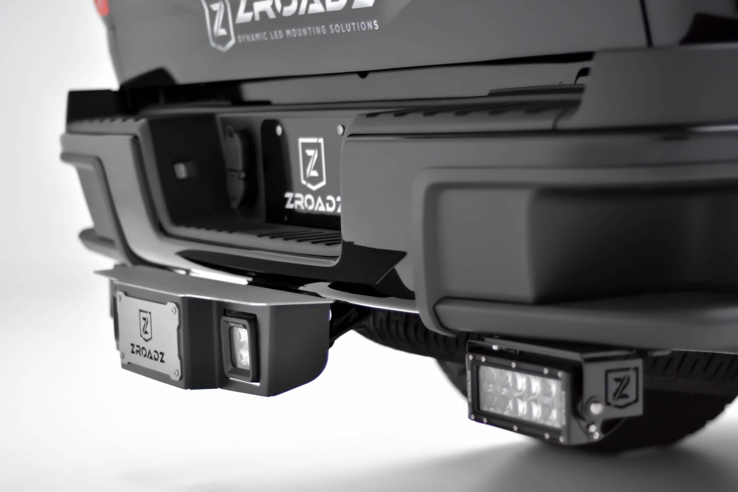 ZROADZ Z390010 Black 2 Hitch Step with LED Mount