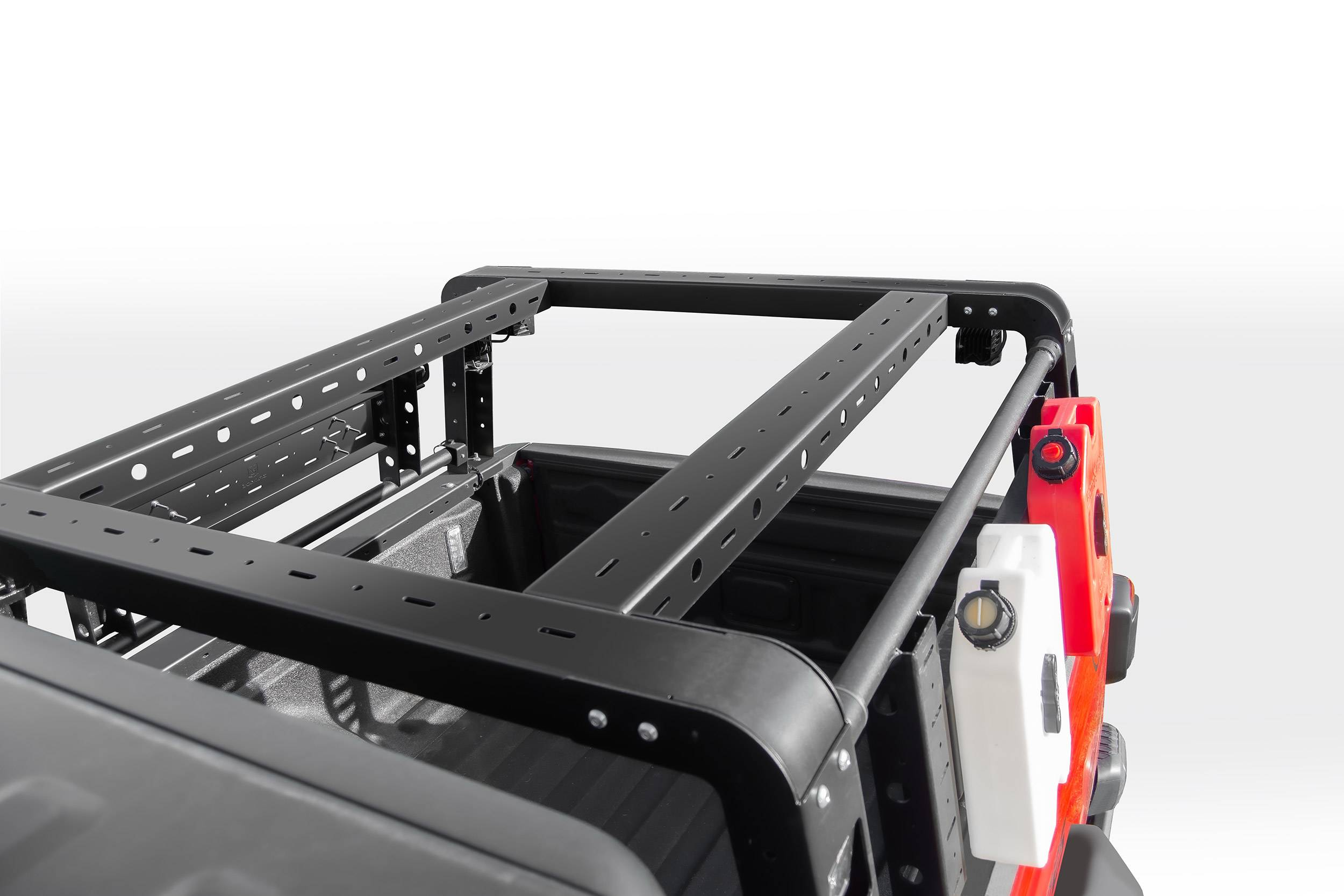 2019 2021 Jeep Gladiator Overland Access Rack With Two Lifting Side Gates Without Factory Trail Rail Cargo System Pn Z834101