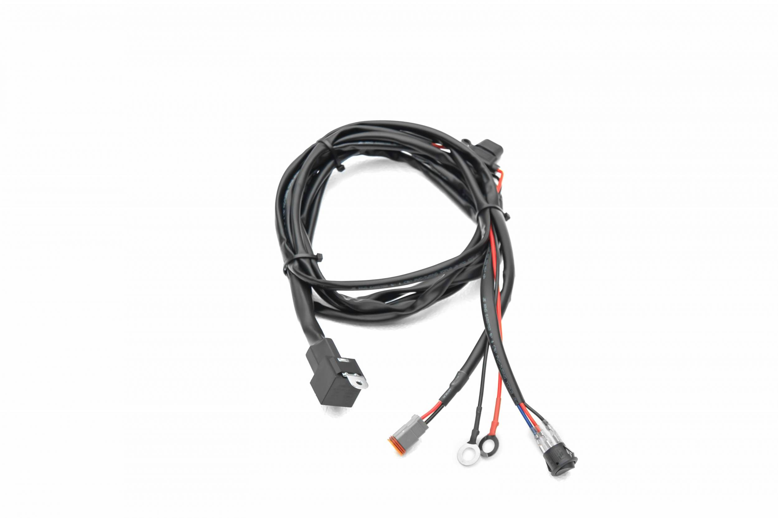 ZROADZ OFF ROAD PRODUCTS Z390020S-A Universal 9 FT DT Series Wiring Harness to connect 1  LED Light