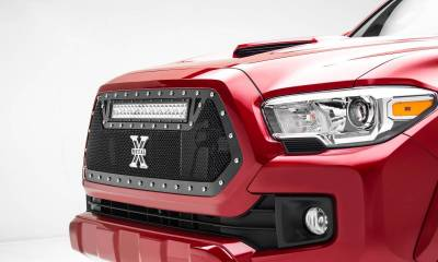 "2016-2017 Tacoma Torch Grille, Black, 1 Pc, Insert, Chrome Studs, Incl. (1) 20"" LED - PN #6319411"