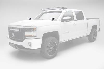 ZROADZ                                             - 2014-2018 Silverado, Sierra 1500 Hood Hinge LED Bracket to mount (2) 3 Inch LED Pod Lights - PN #Z362081