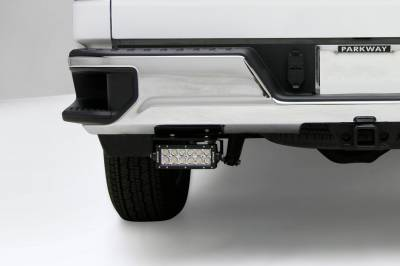 ZROADZ                                             - 2019-2021 Silverado, Sierra 1500 Rear Bumper LED Kit with (2) 6 Inch LED Straight Double Row Light Bars - PN #Z382182-KIT