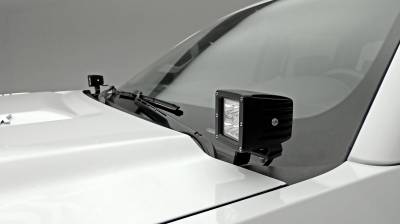 ZROADZ                                             - 2015-2019 Silverado, Sierra 2500, 3500 Hood Hinge LED Bracket to mount (2) 3 Inch LED Pod Lights - PN #Z361221