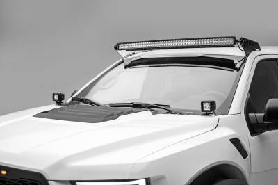 ZROADZ                                             - 2015-2019 Ford F-150, Raptor Front Roof LED Bracket to mount (1) 52 Inch Curved LED Light Bar - PN #Z335662