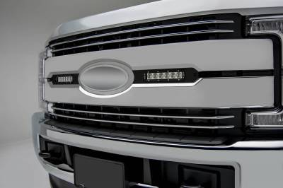ZROADZ                                             - 2017-2019 Ford Super Duty Lariat, King Ranch OEM Grille LED Kit, Incl. (2) 6 Inch LED Straight Single Row Slim Light Bars - PN #Z415471-KIT