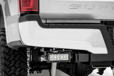 ZROADZ                                             - 2017-2021 Ford Super Duty Rear Bumper LED Kit with (2) 6 Inch LED Straight Double Row Light Bars - PN #Z385471-KIT