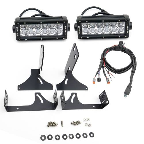 ZROADZ                                             - 2008-2016 Ford Super Duty Rear Bumper LED Kit with (2) 6 Inch LED Straight Double Row Light Bars - PN #Z385461-KIT