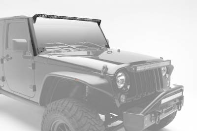 2007-2017 Jeep JK Front Roof LED Kit, Incl. (1) 50 Inch LED Straight Single Row Slim Light Bar - PN #Z374711-KIT