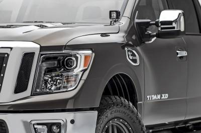 ZROADZ                                             - 2016-2019 Nissan Titan Hood Hinge LED Kit, Incl. (2) 3 Inch LED Pod Lights - PN #Z367581-KIT2