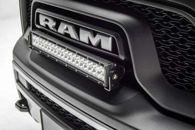 ZROADZ                                             - 2015-2018 Ram Rebel Front Bumper Top LED Kit with (1) 20 Inch LED Straight Double Row Light Bar - PN #Z324552-KIT