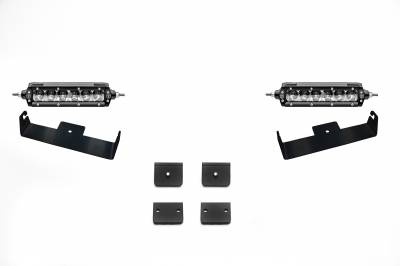 ZROADZ                                             - Universal Panel Clamp LED Kit, Incl. (2) 6 Inch LED Straight Single Row Slim Light Bars - PN #Z310006-KIT