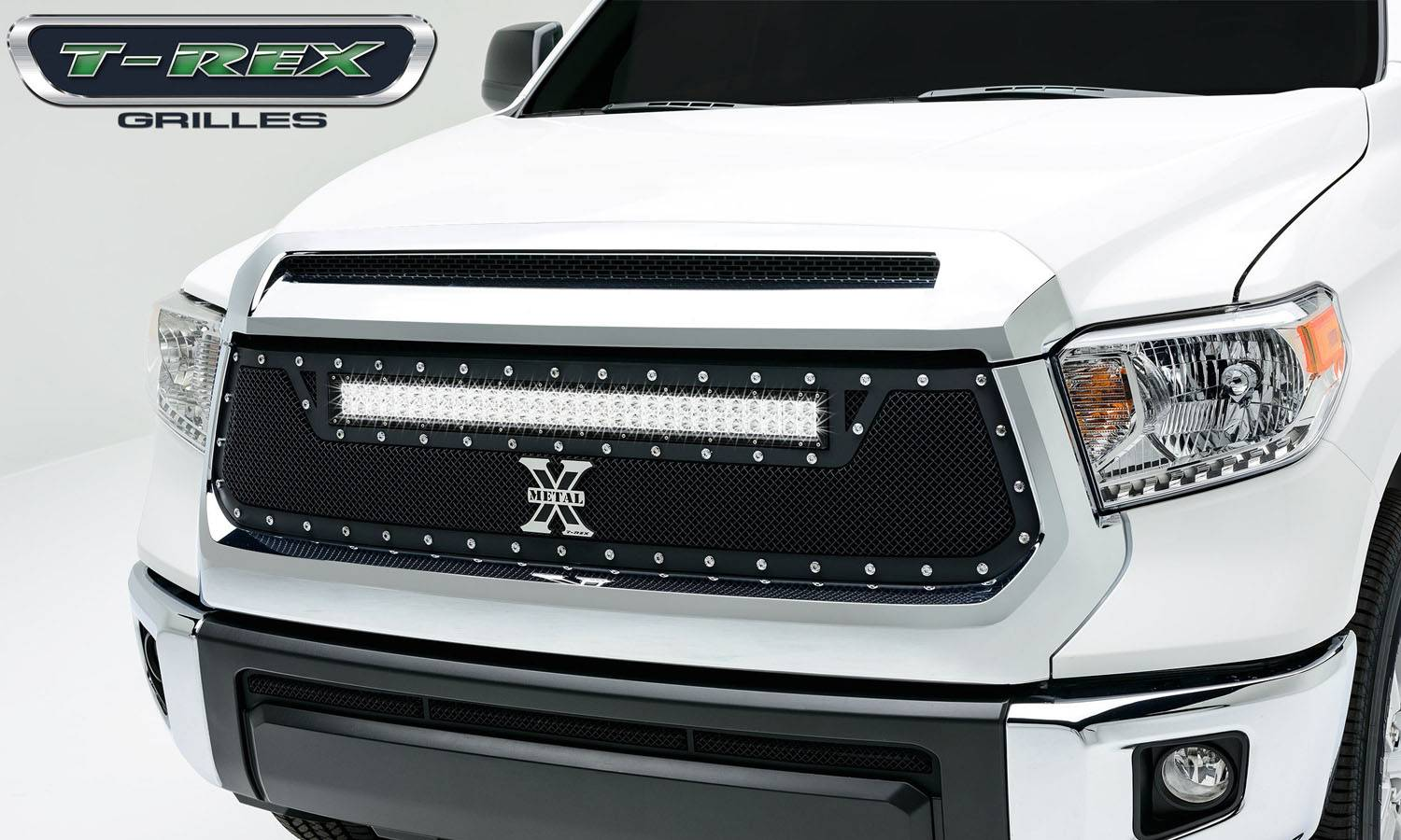 "2014-2017 Tundra Torch Grille, Black, 1 Pc, Replacement, Chrome Studs, Incl. (1) 30"" LED - PN #6319641"