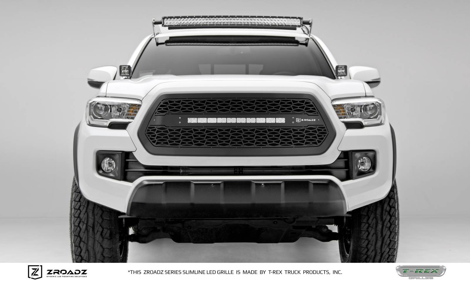 "2016-2017 Tacoma ZROADZ Grille, Black, 1 Pc, Insert, Incl. (1) 20"" LED - PN #Z319411"