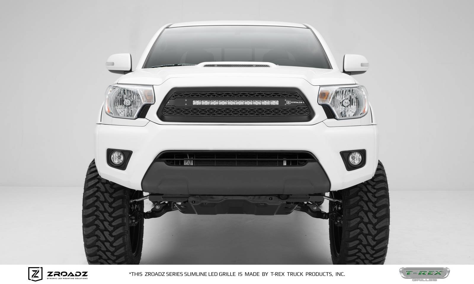 "T-REX GRILLES - 2012-2015 Tacoma ZROADZ Grille, Black, 1 Pc, Insert with (1) 20"" LED - PN #Z319381"