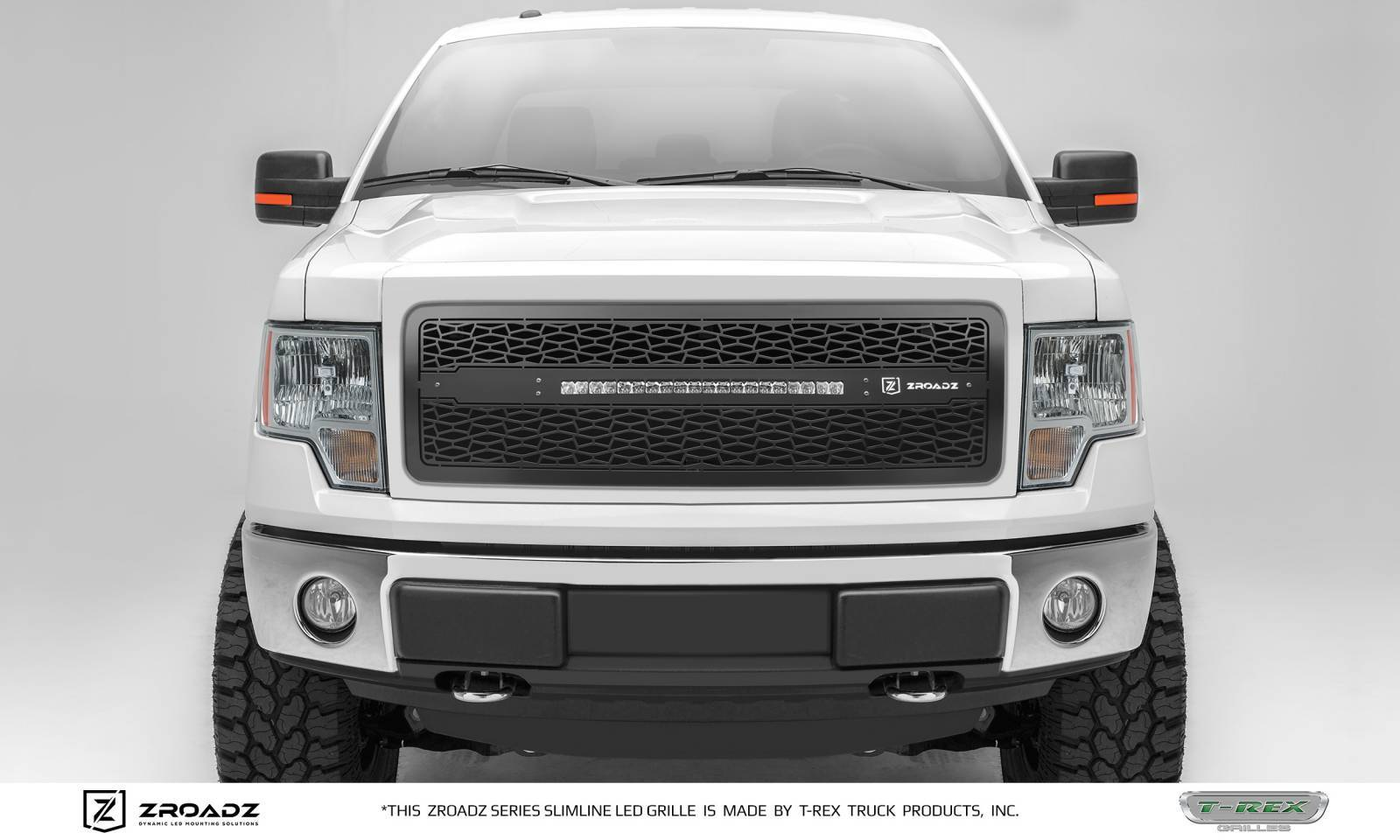 "T-REX GRILLES - 2009-2012 F-150 ZROADZ Grille, Black, 1 Pc, Insert with (1) 20"" LED - PN #Z315681"
