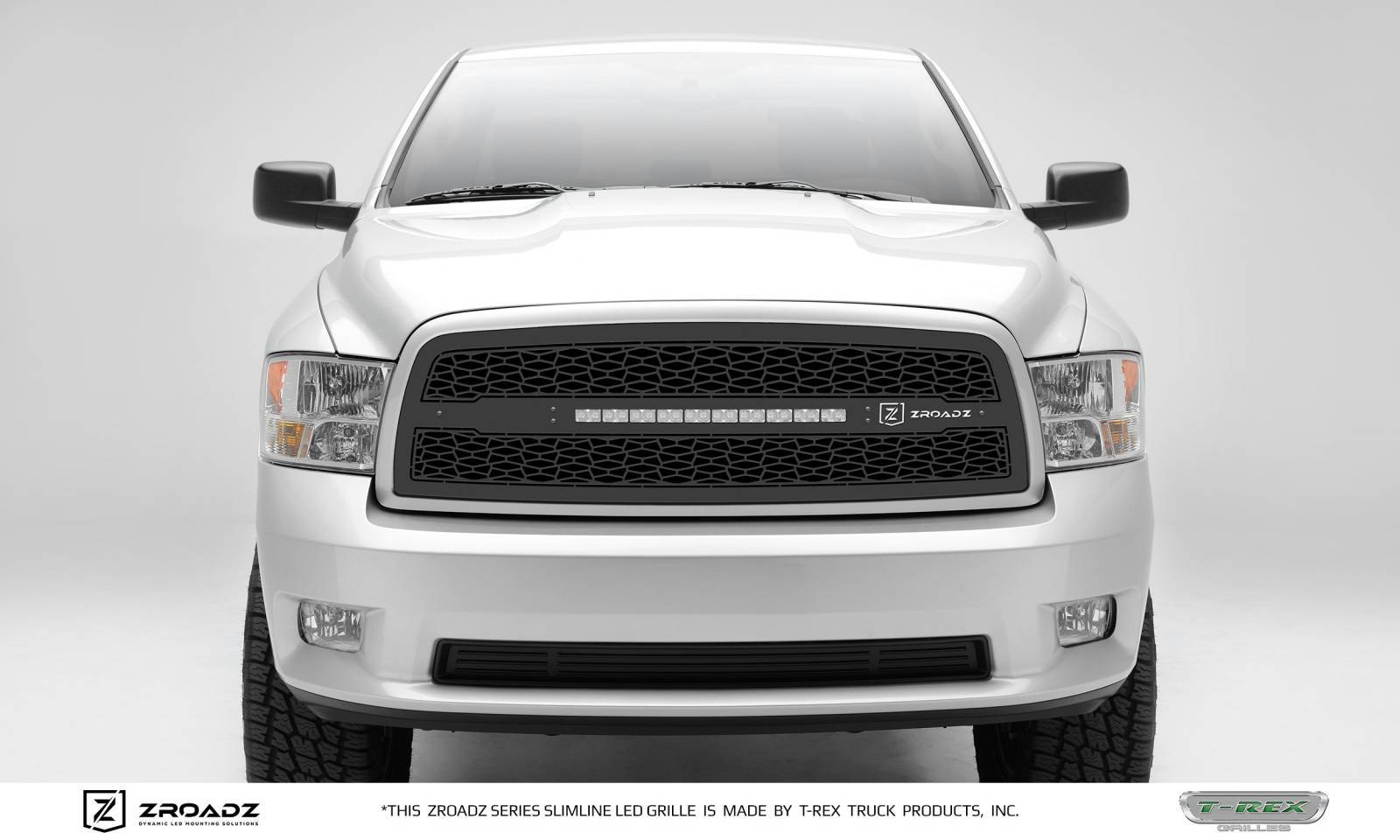 "T-REX GRILLES - 2009-2012 Ram 1500 ZROADZ Grille, Black, 1 Pc, Insert with (1) 20"" LED - PN #Z314571"