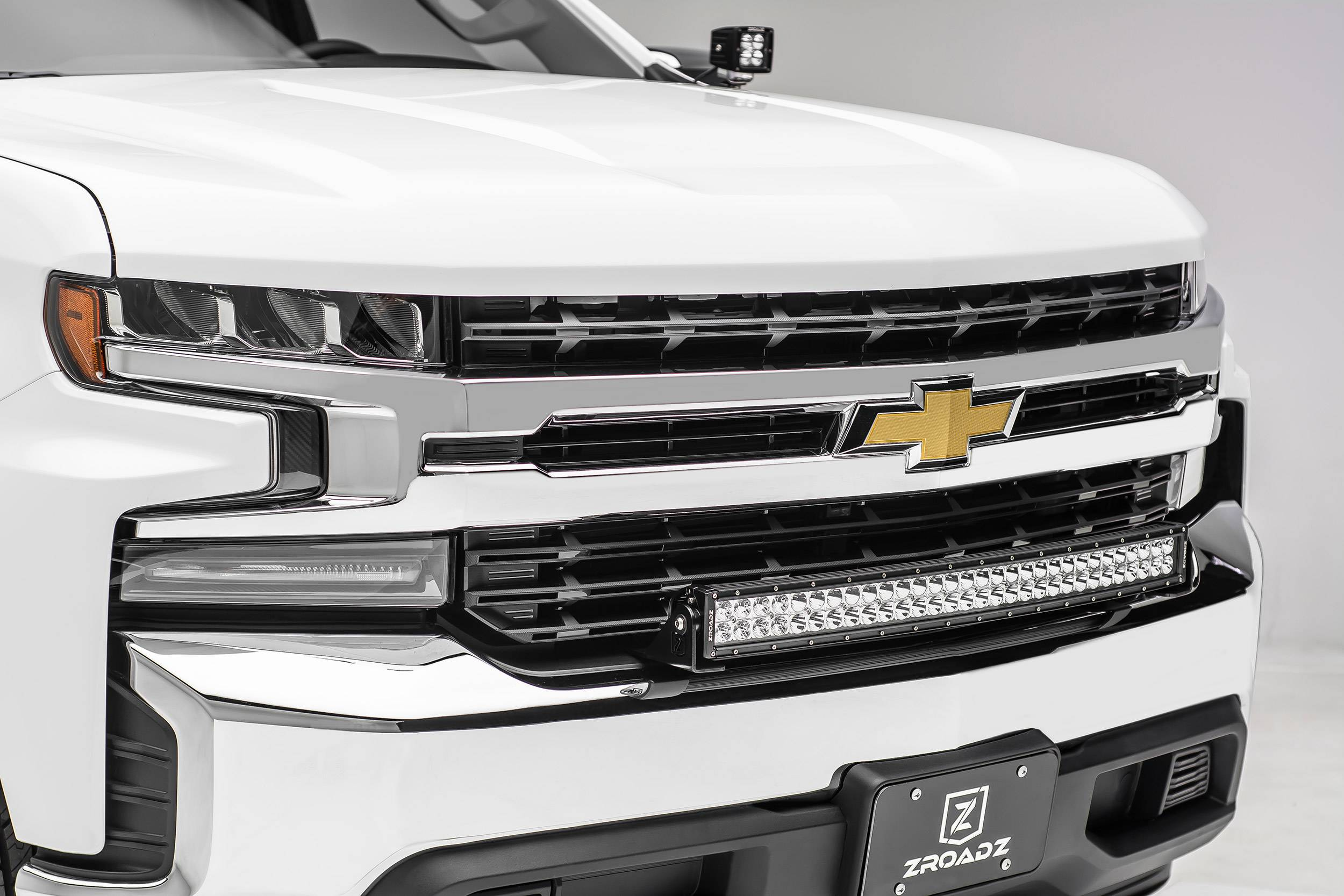 ZROADZ                                             - 2019-2021 Chevrolet Silverado 1500 Front Bumper Top LED Bracket to mount 30 Inch Curved LED Light Bar - PN #Z322282