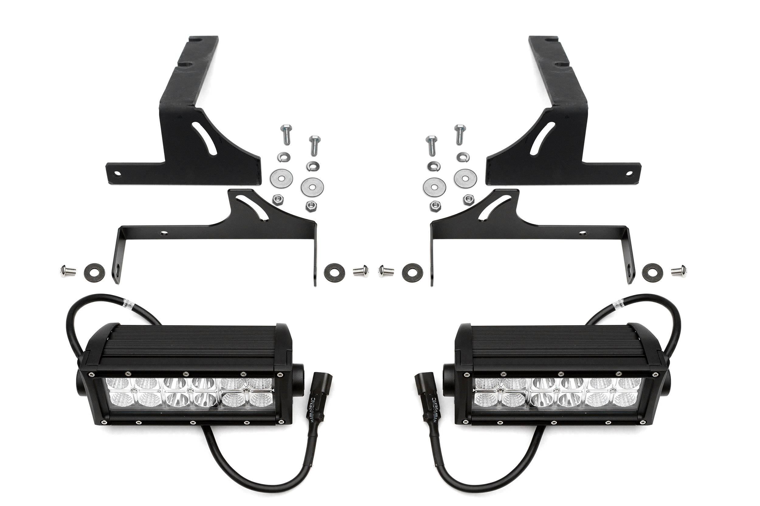 ZROADZ                                             - 2007-2018 Silverado,Sierra 1500 Rear Bumper LED Kit with (2) 6 Inch LED Straight Double Row Light Bars - PN #Z382051-KIT