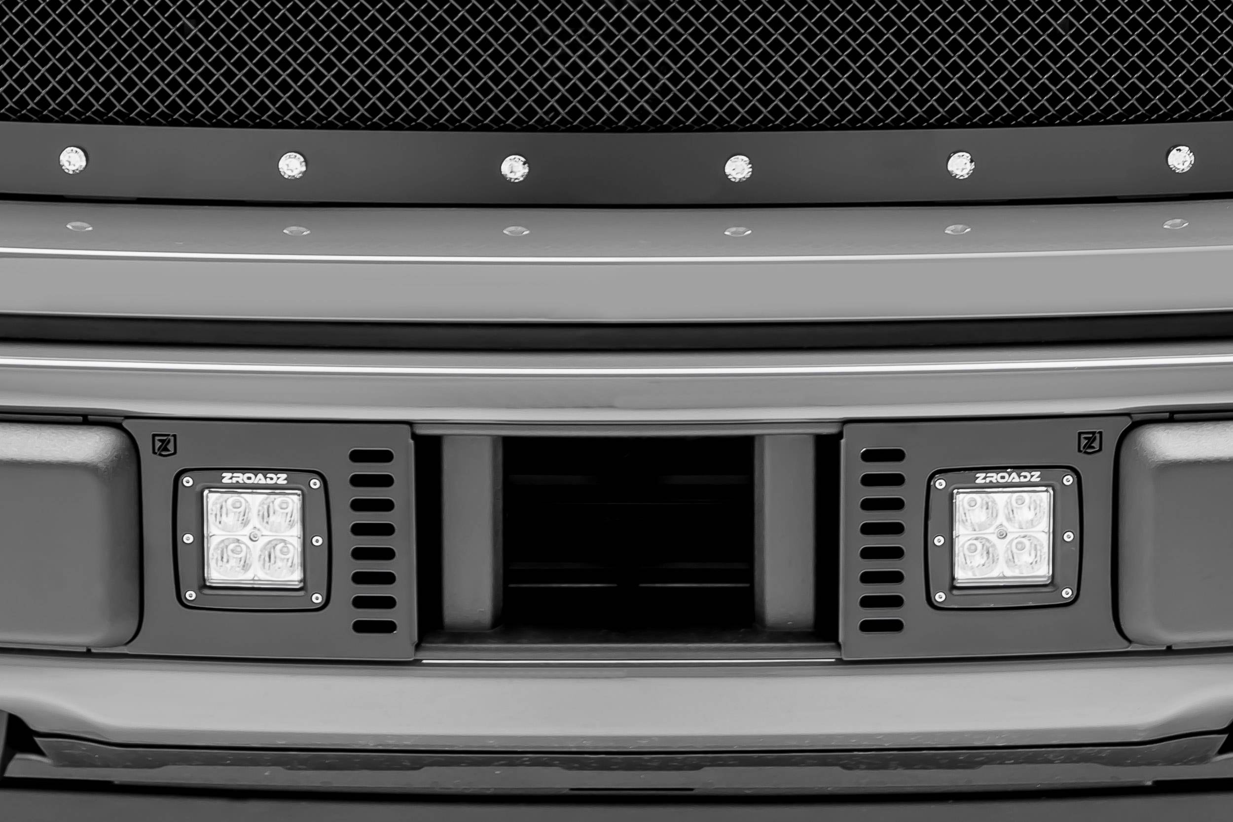 2018-2019 Ford F-150 Lariat, Limited Front Bumper Center LED Kit, Incl. (2) 3 Inch LED Pod Lights - PN #Z325711-KIT