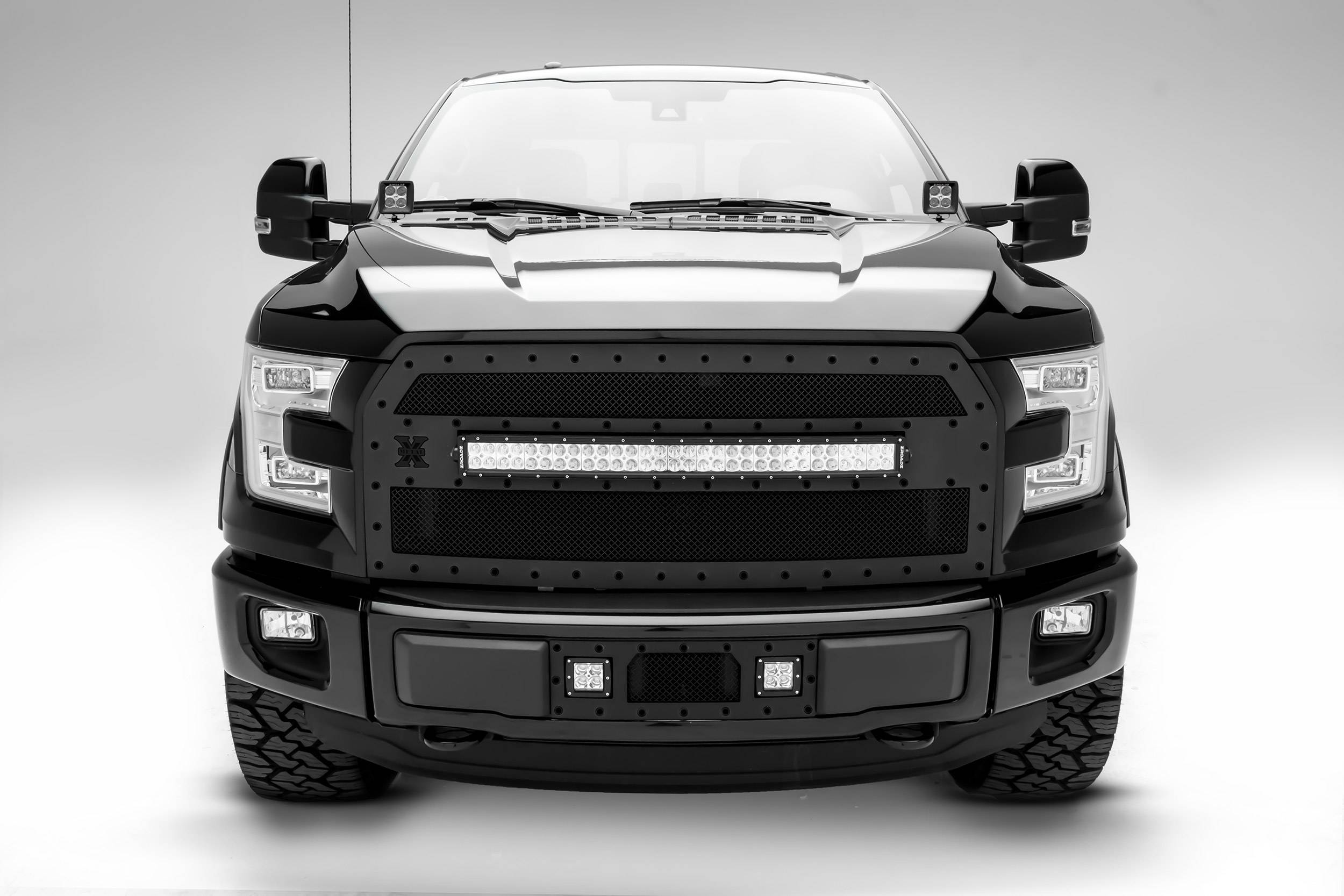 ZROADZ                                             - 2015-2017 Ford F-150 Hood Hinge LED Kit with (2) 3 Inch LED Pod Lights - PN #Z365731-KIT2