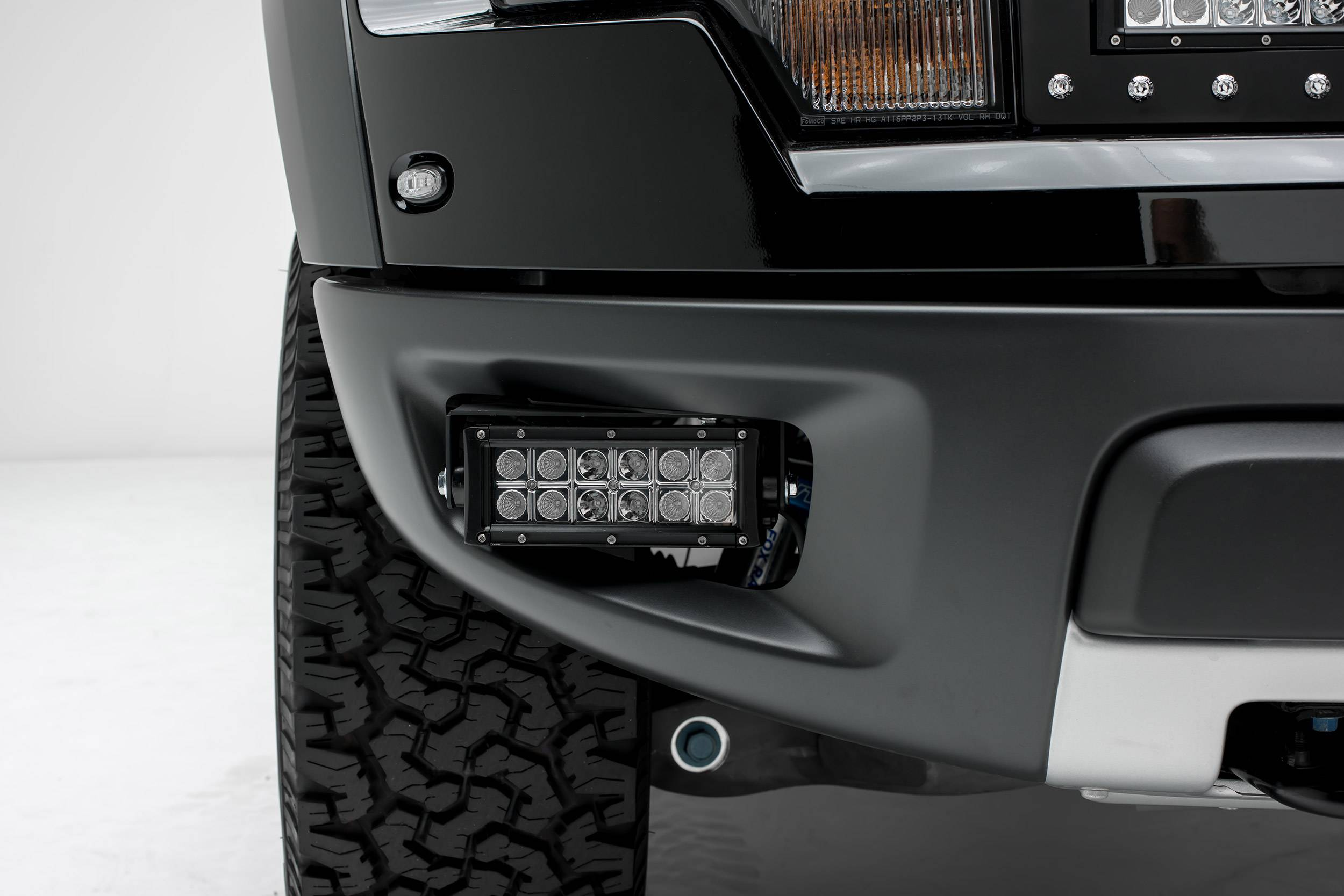 ZROADZ                                             - 2010-2014 Ford F-150 Raptor Front Bumper OEM Fog LED Bracket to mount (1) 6 Inch LED Light Bar per side - PN #Z325651