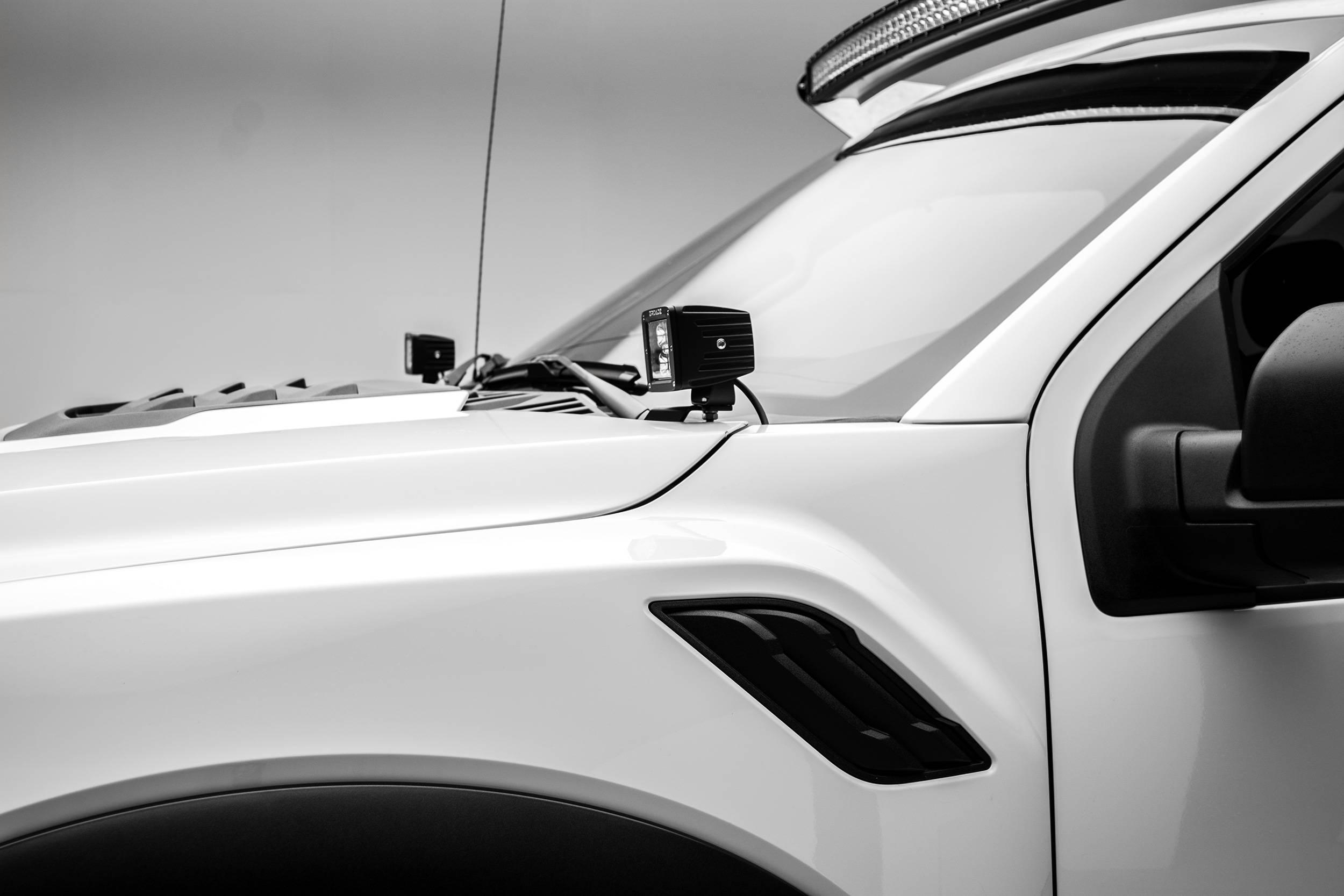 ZROADZ                                             - 2017-2020 Ford F-150 Raptor Hood Hinge LED Bracket to mount (2) 3 Inch LED Pod Lights - PN #Z365701