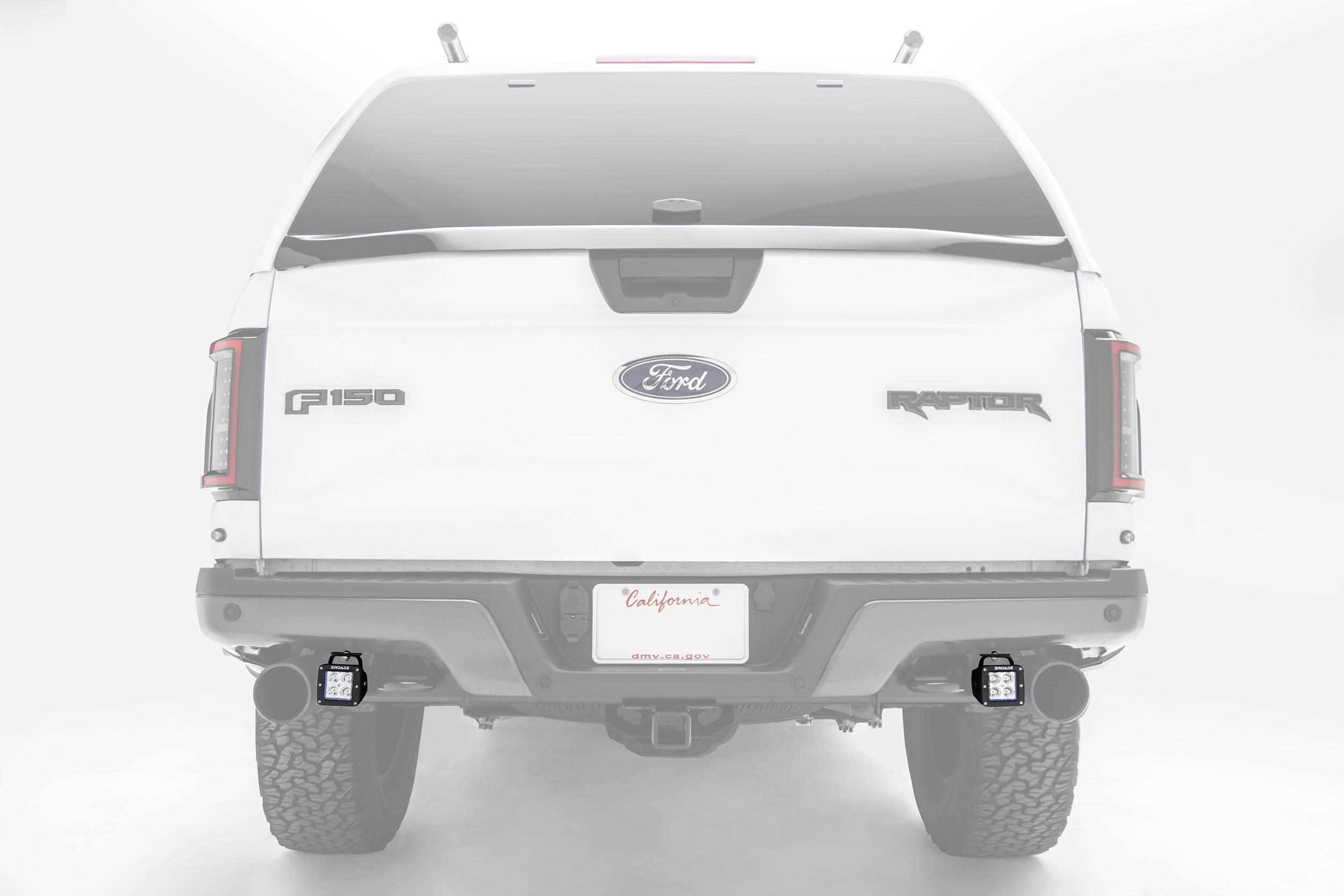ZROADZ                                             - 2017-2021 Ford F-150 Raptor Rear Bumper LED Kit with (2) 3 Inch LED Pod Lights - PN #Z385651-KIT