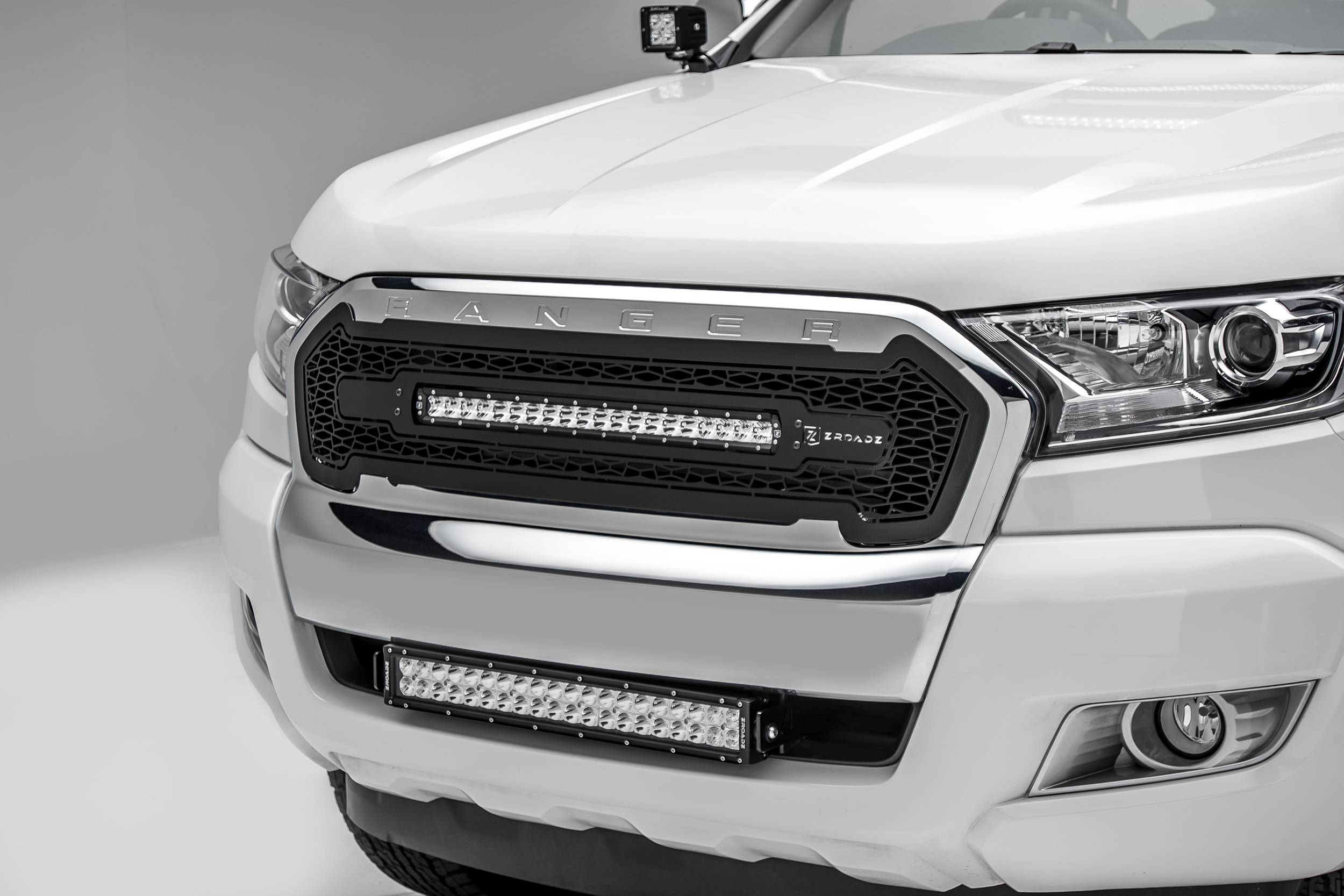 ZROADZ                                             - 2015-2018 Ford Ranger T6 Front Bumper Center LED Bracket to mount 20 Inch LED Light Bar - PN #Z325761