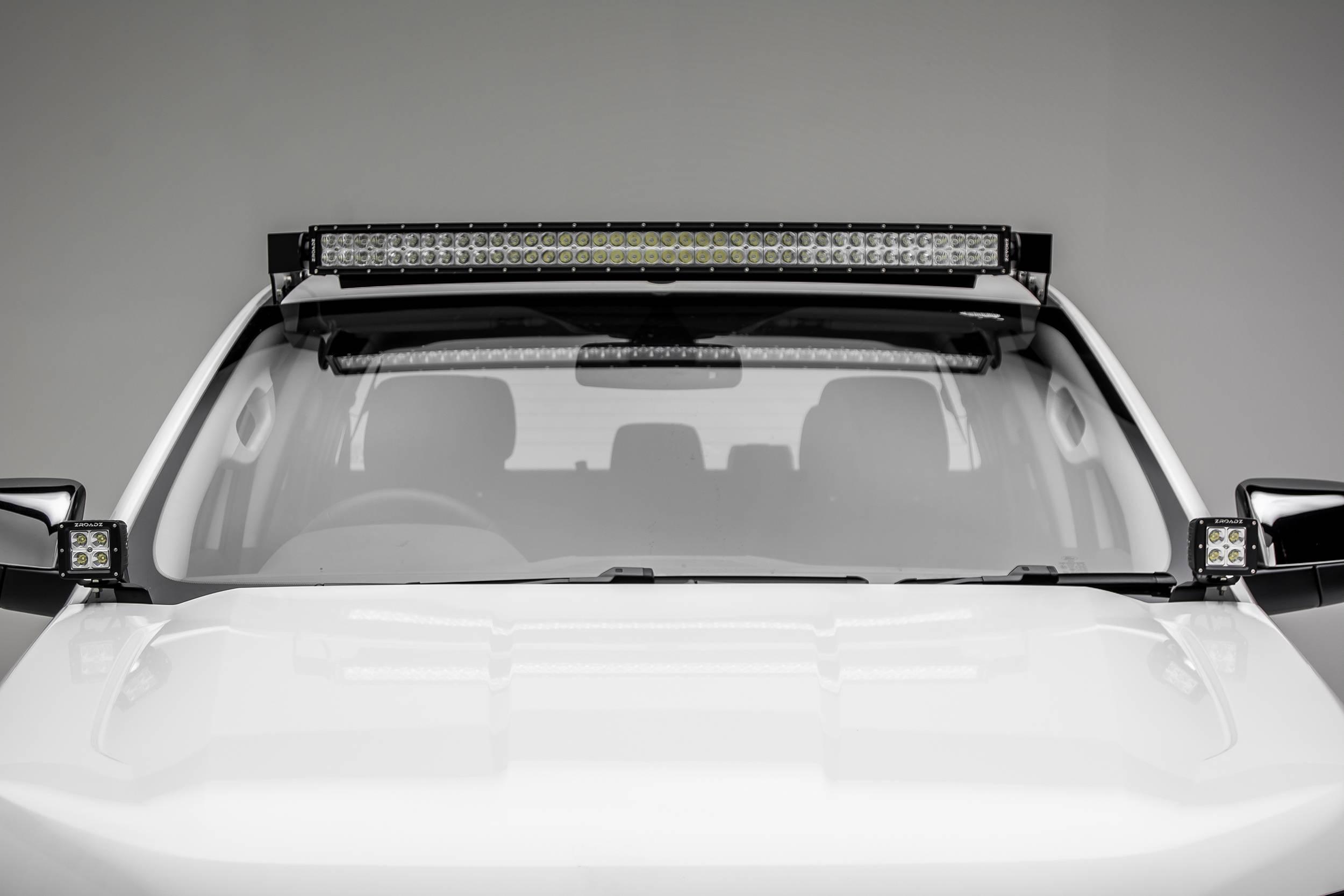 ZROADZ                                             - 2015-2018 Ford Ranger T6 Hood Hinge LED Kit with (2) 3 Inch LED Pod Lights - PN #Z365761-KIT2