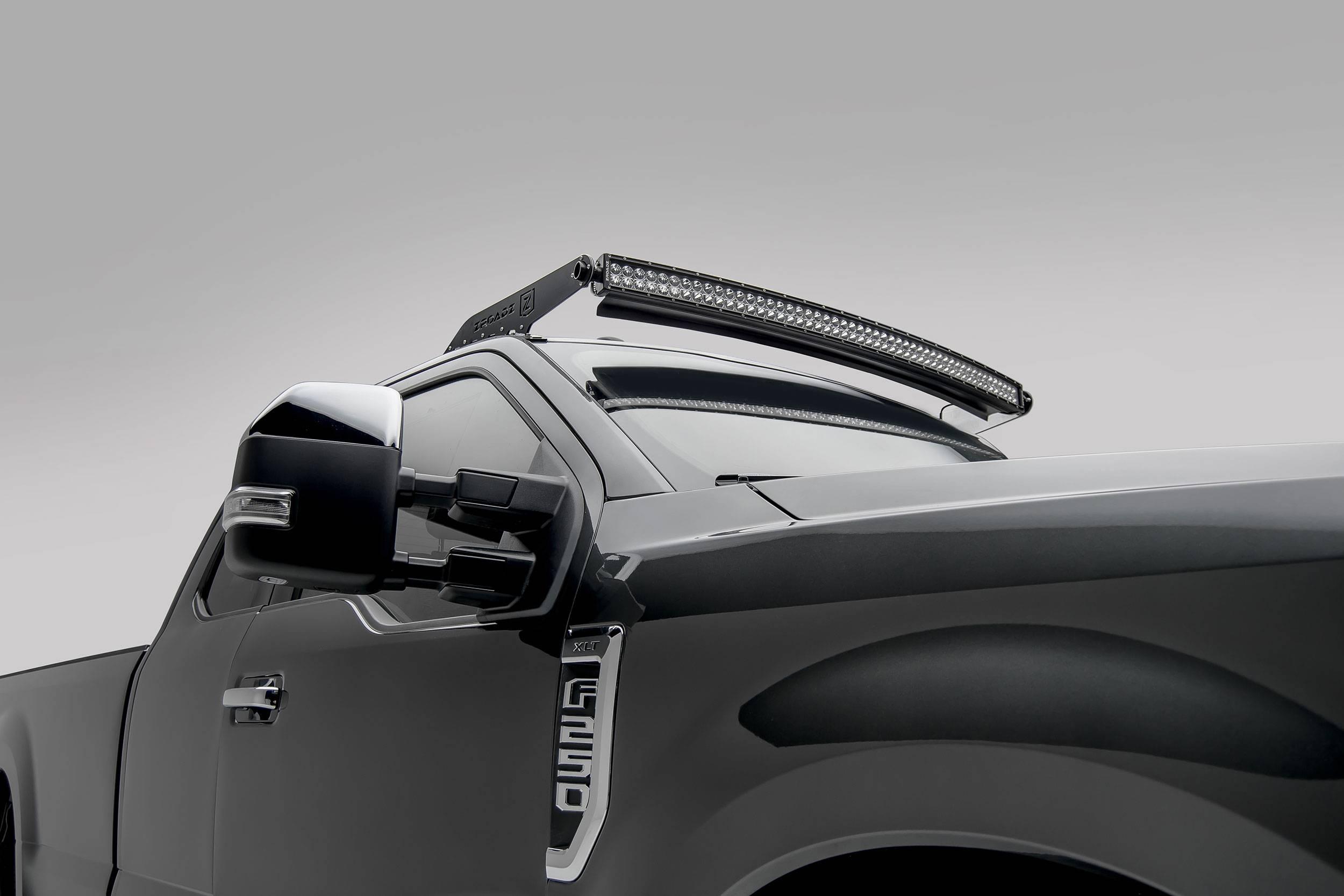 ZROADZ                                             - 2017-2021 Ford Super Duty Front Roof LED Bracket to mount (1) 52 Inch Curved LED Light Bar - PN #Z335471