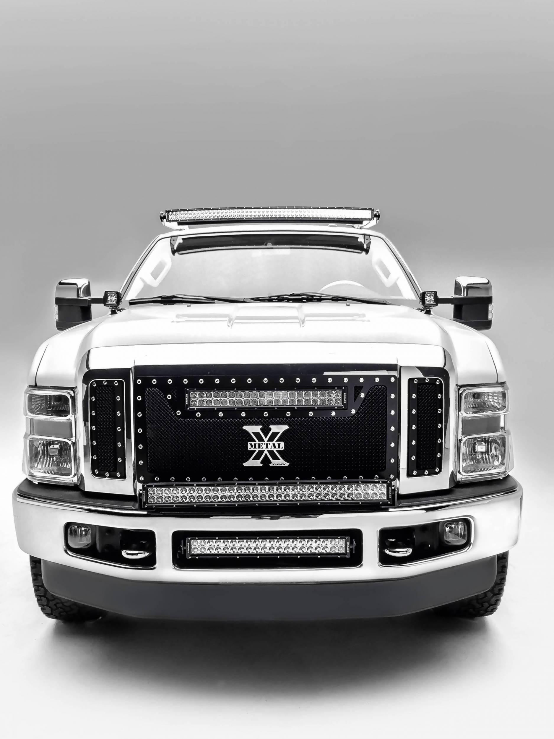 2008-2010 Ford Super Duty Hood Hinge LED Bracket to mount (2) 3 Inch LED Pod Lights - PN #Z365631