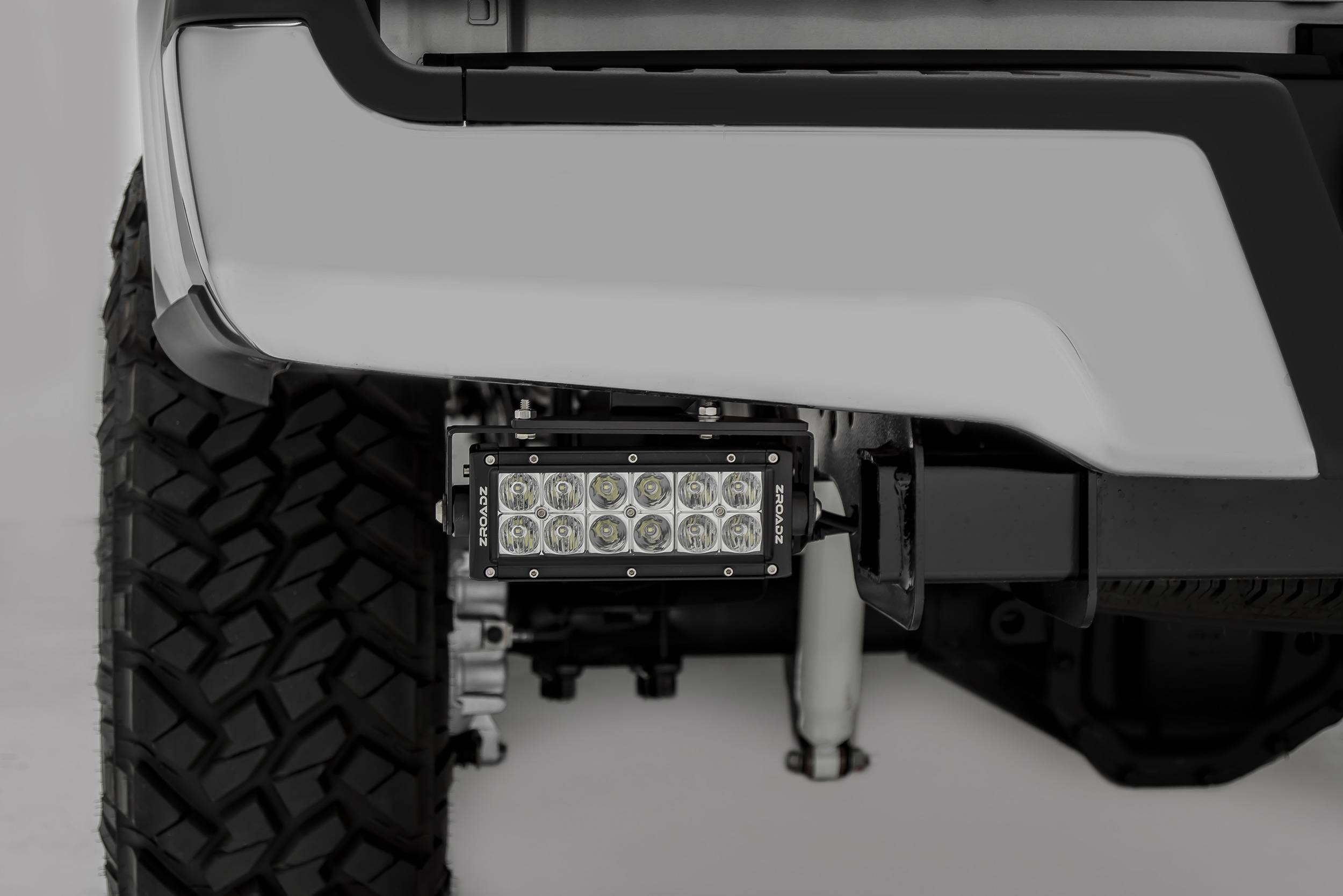ZROADZ                                             - 2017-2019 Ford Super Duty Rear Bumper LED Bracket to mount (2) 6 Inch Straight Light Bar - PN #Z385471