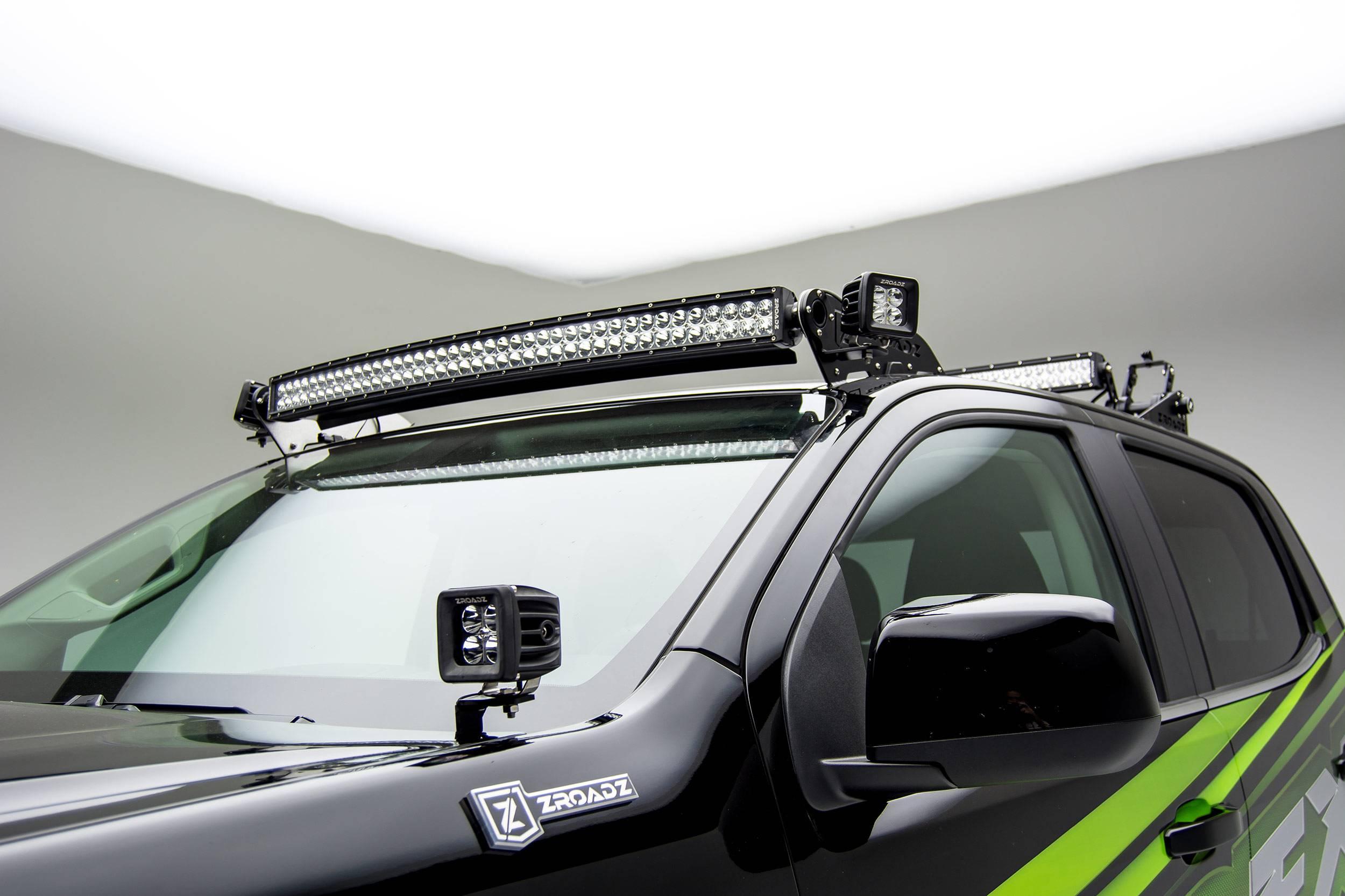 ZROADZ                                             - 2015-2020 Colorado, Canyon Hood Hinge LED Bracket to mount (2) 3 Inch LED Pod Lights - PN #Z362671