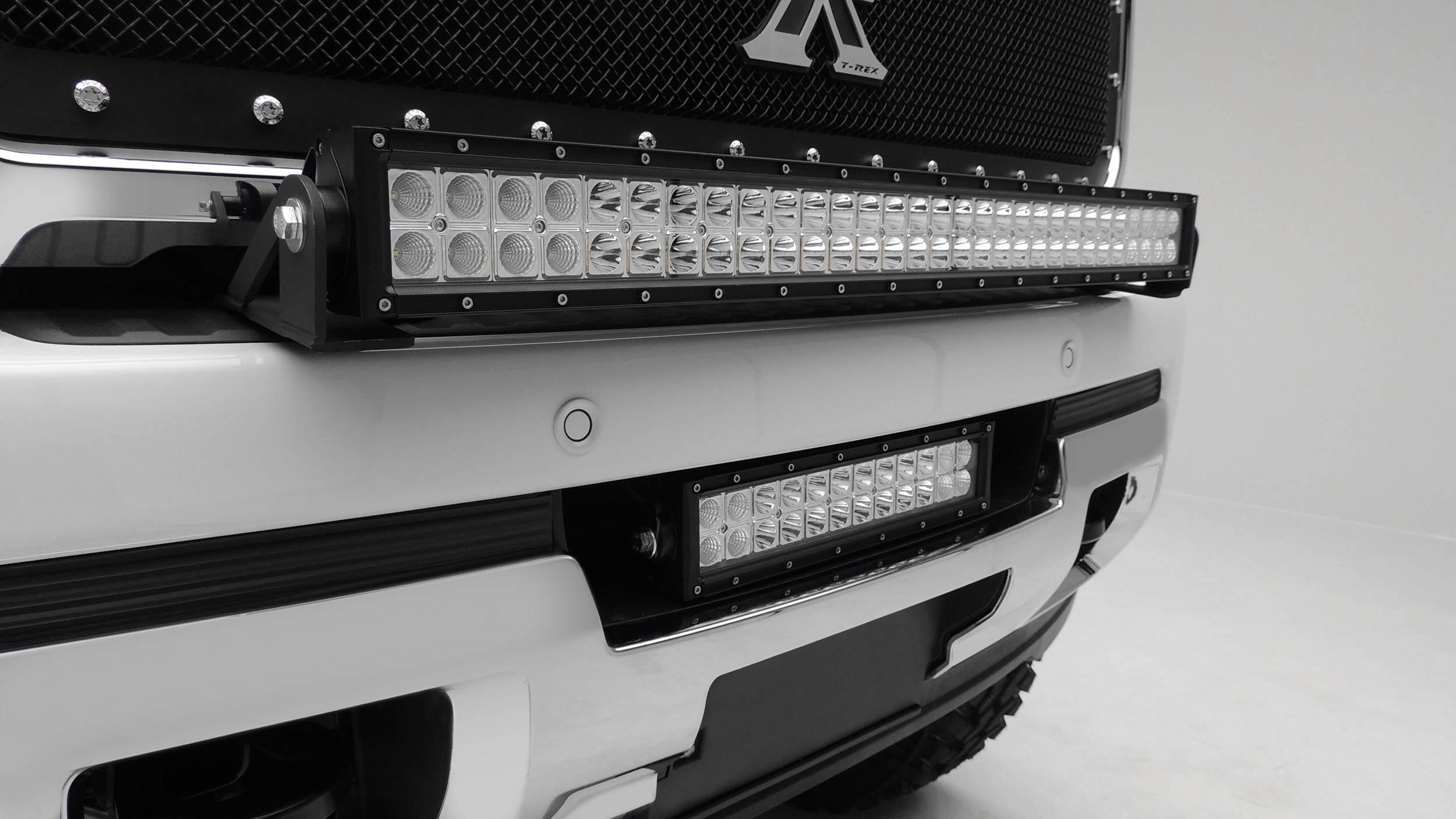 2015 2019 Gmc Sierra 2500 3500 Front Bumper Center Led Bracket To Mount 12 Inch Led Light Bar Pn Z322111