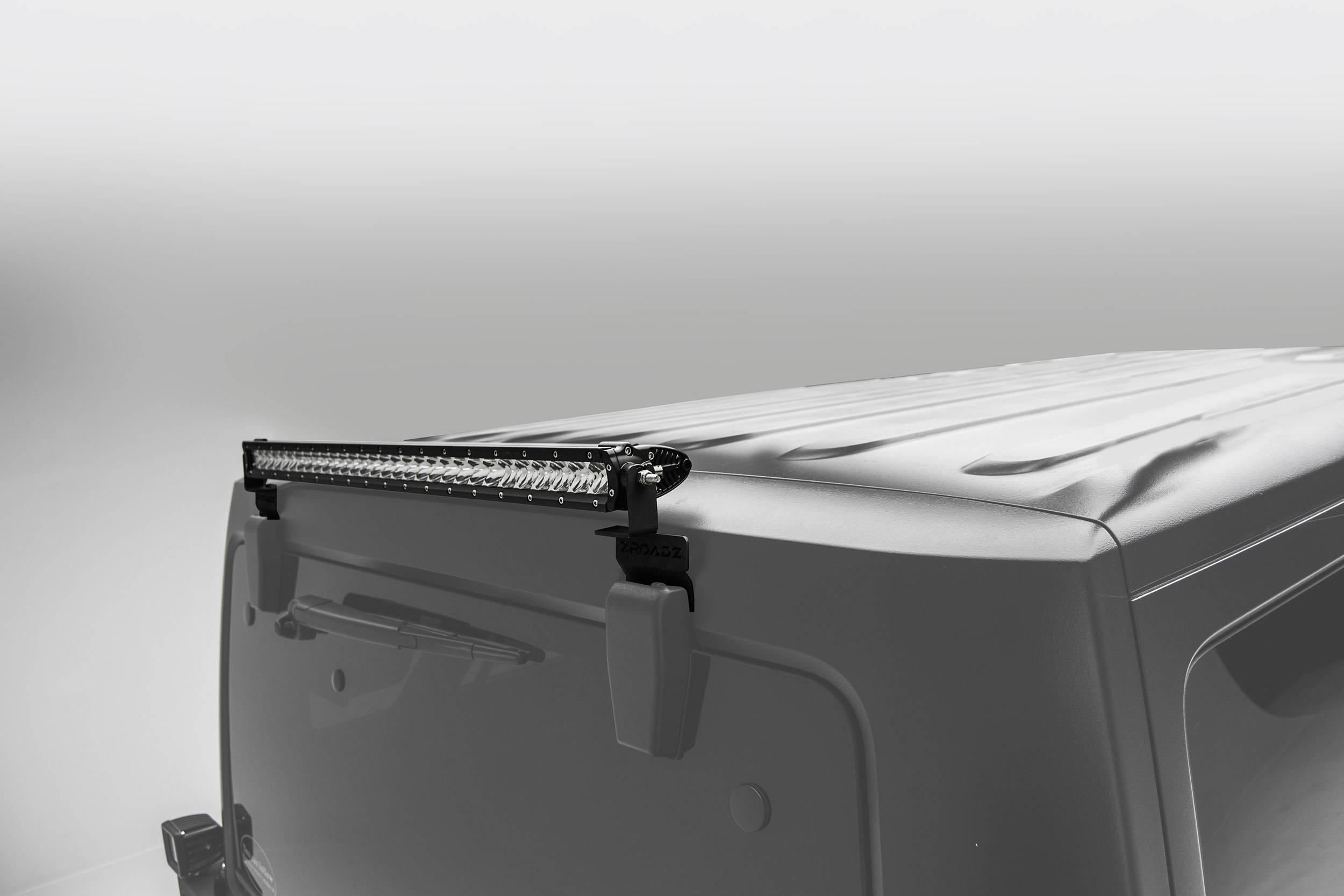 2007-2018 Jeep JK Rear Window LED Kit, Incl. (1) 30 Inch LED Straight Single Row Slim Light Bar - PN #Z394811-KIT