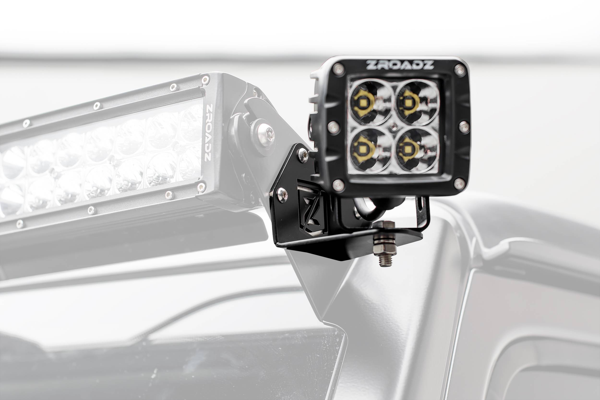 ZROADZ                                             - Jeep JL, Gladiator Front Roof Side LED Kit with (2) 3 Inch LED Pod Lights - PN #Z334851-KIT2