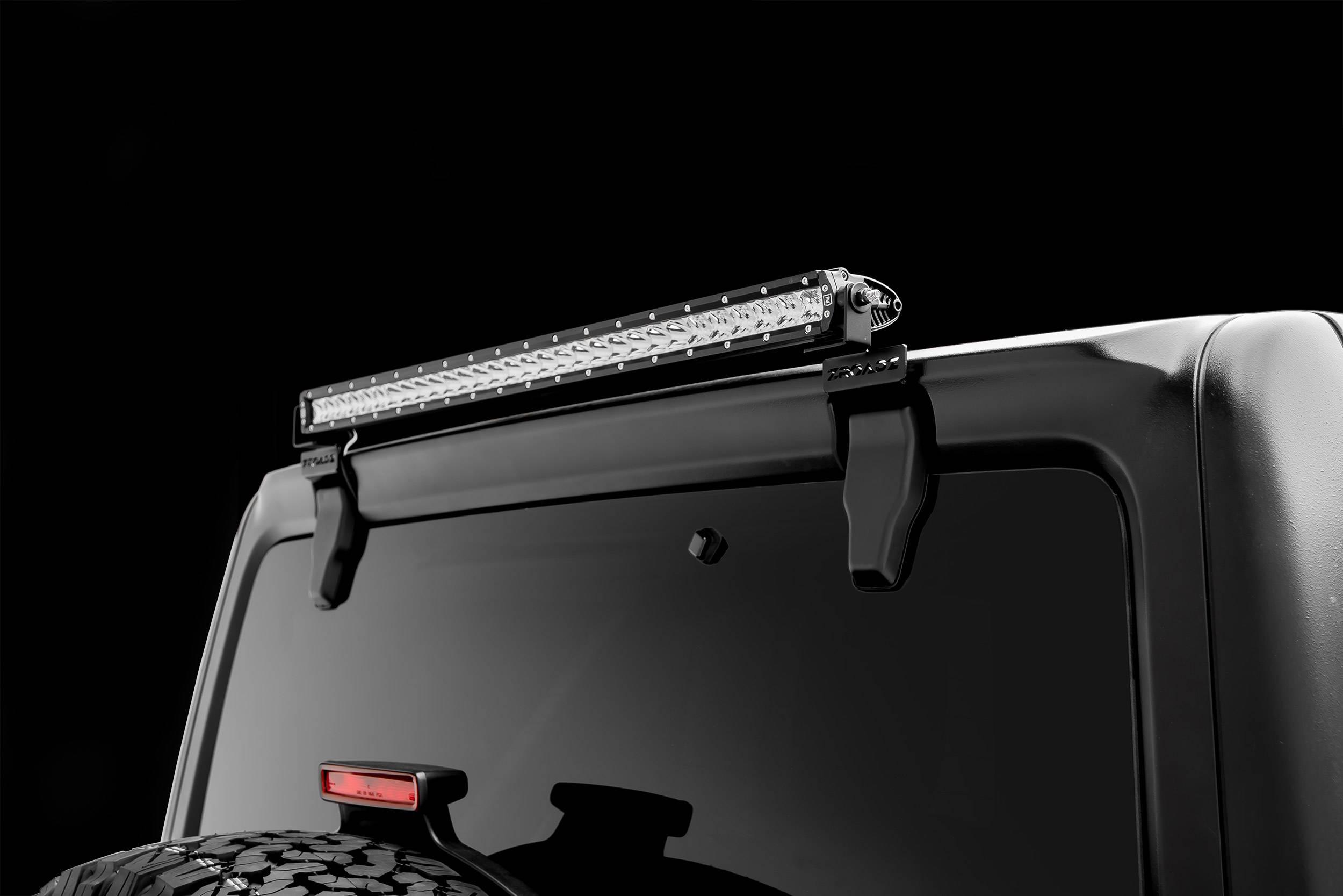 ZROADZ                                             - 2018-2021 Jeep JL Rear Window LED Bracket to mount (1) 30 Inch Staight Single Row LED Light Bar - PN #Z394931