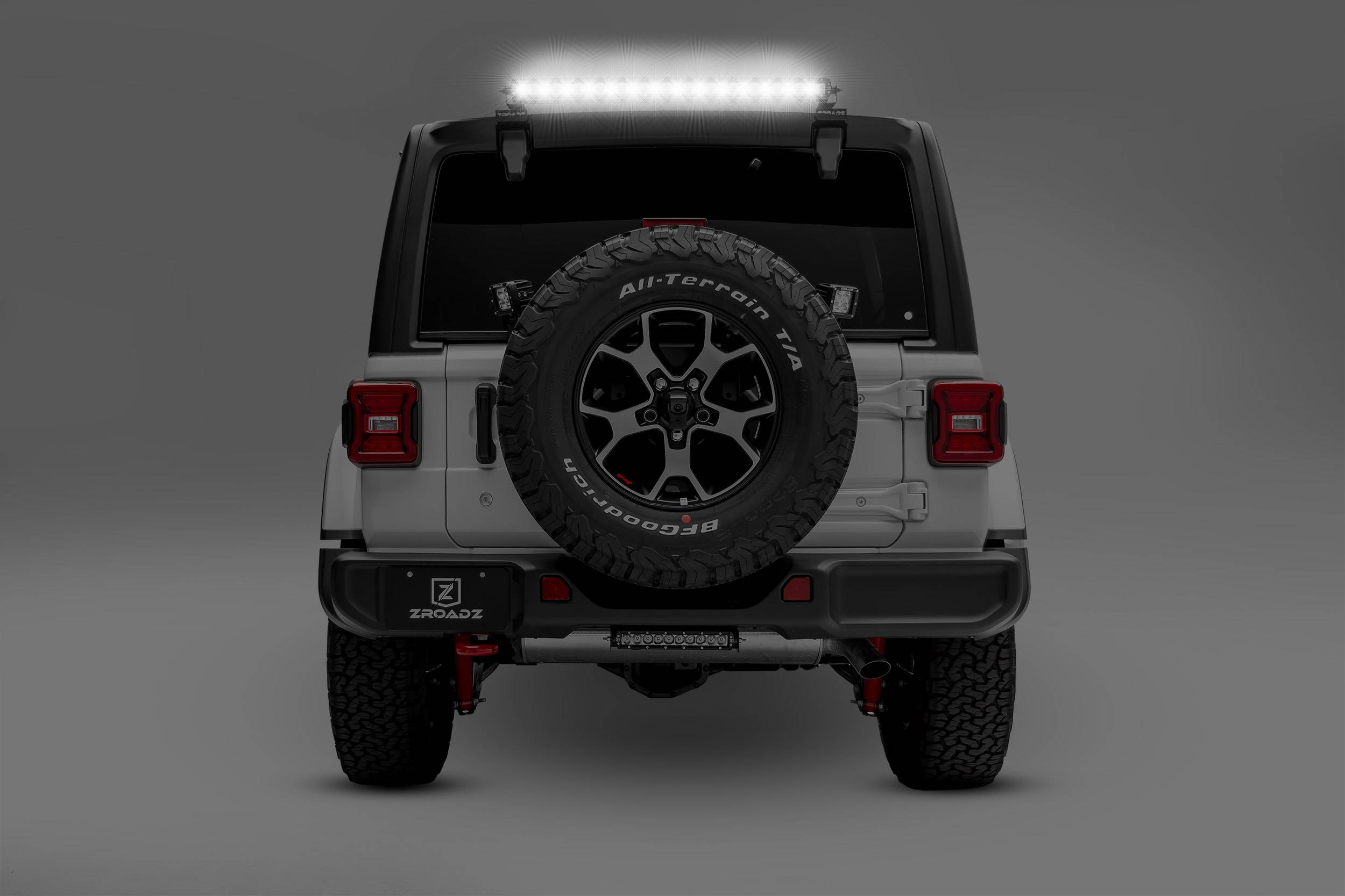 ZROADZ                                             - 2018-2020 Jeep JL Rear Window LED Kit, Incl. (1) 30 Inch LED Straight Single Row Slim Light Bar - PN #Z394931-KIT