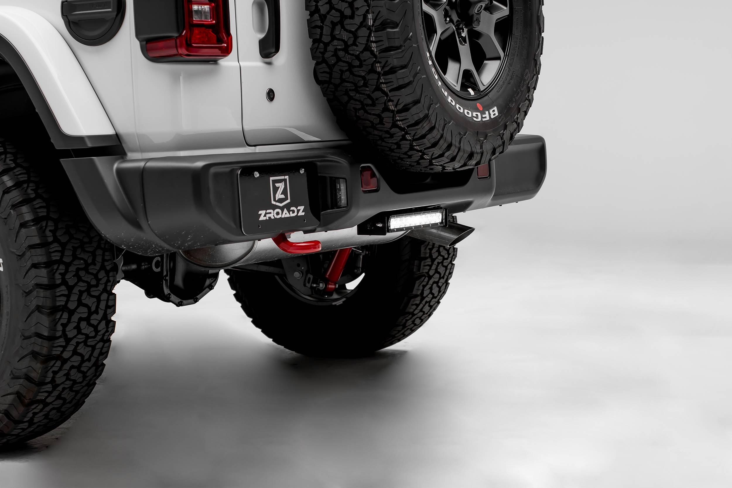 ZROADZ                                             - 2018-2021 Jeep JL Rear Bumper LED Bracket to mount (1) 10 Inch Straight Light Bar - PN #Z384931