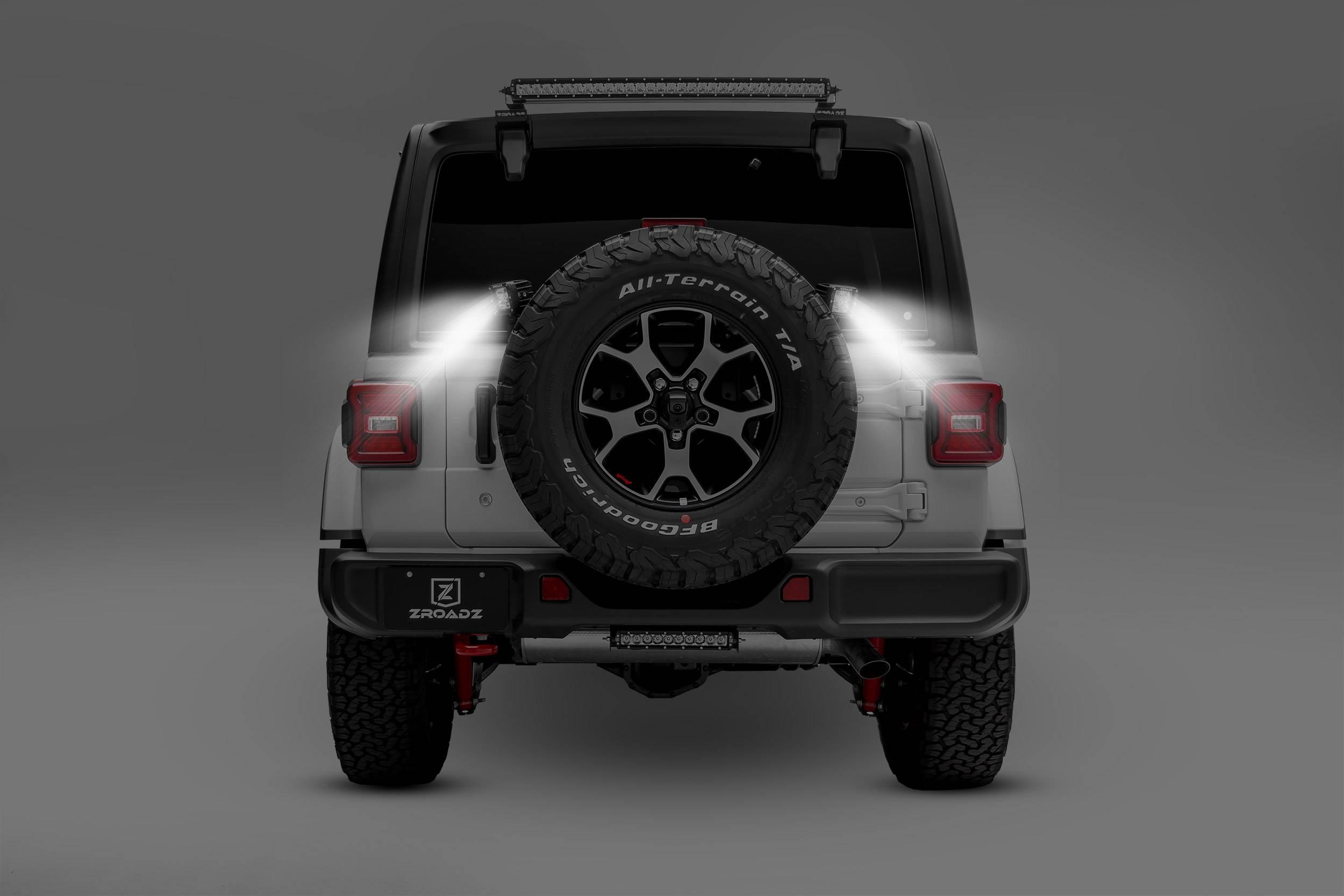 2018-2019 Jeep JL Rear Tire LED Kit, Incl. (2) 3 Inch LED Pod Lights - PN #Z394951-KIT