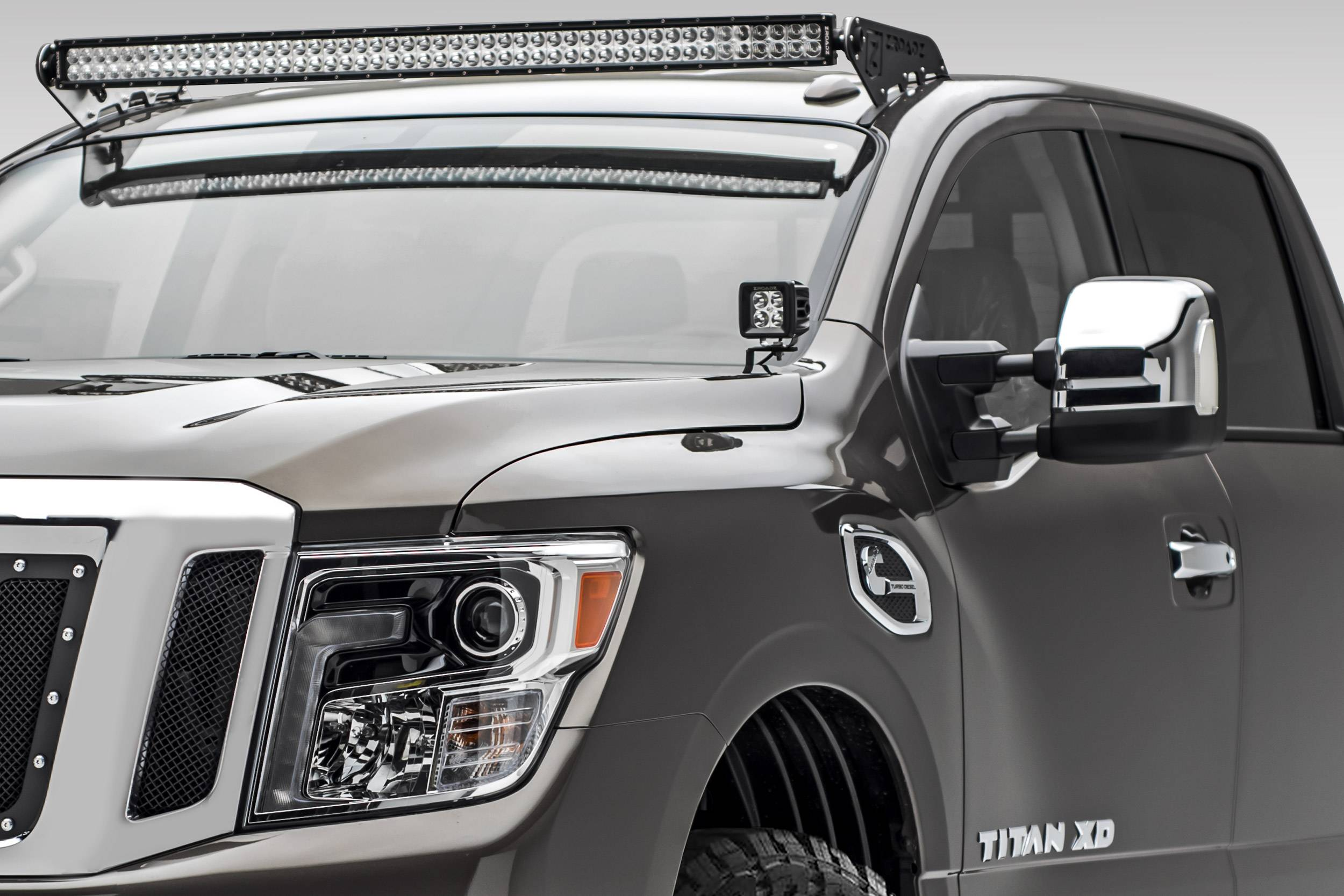 ZROADZ                                             - 2016-2019 Nissan Titan Front Roof LED Bracket to mount (1) 50 Inch Curved LED Light Bar - PN #Z337581