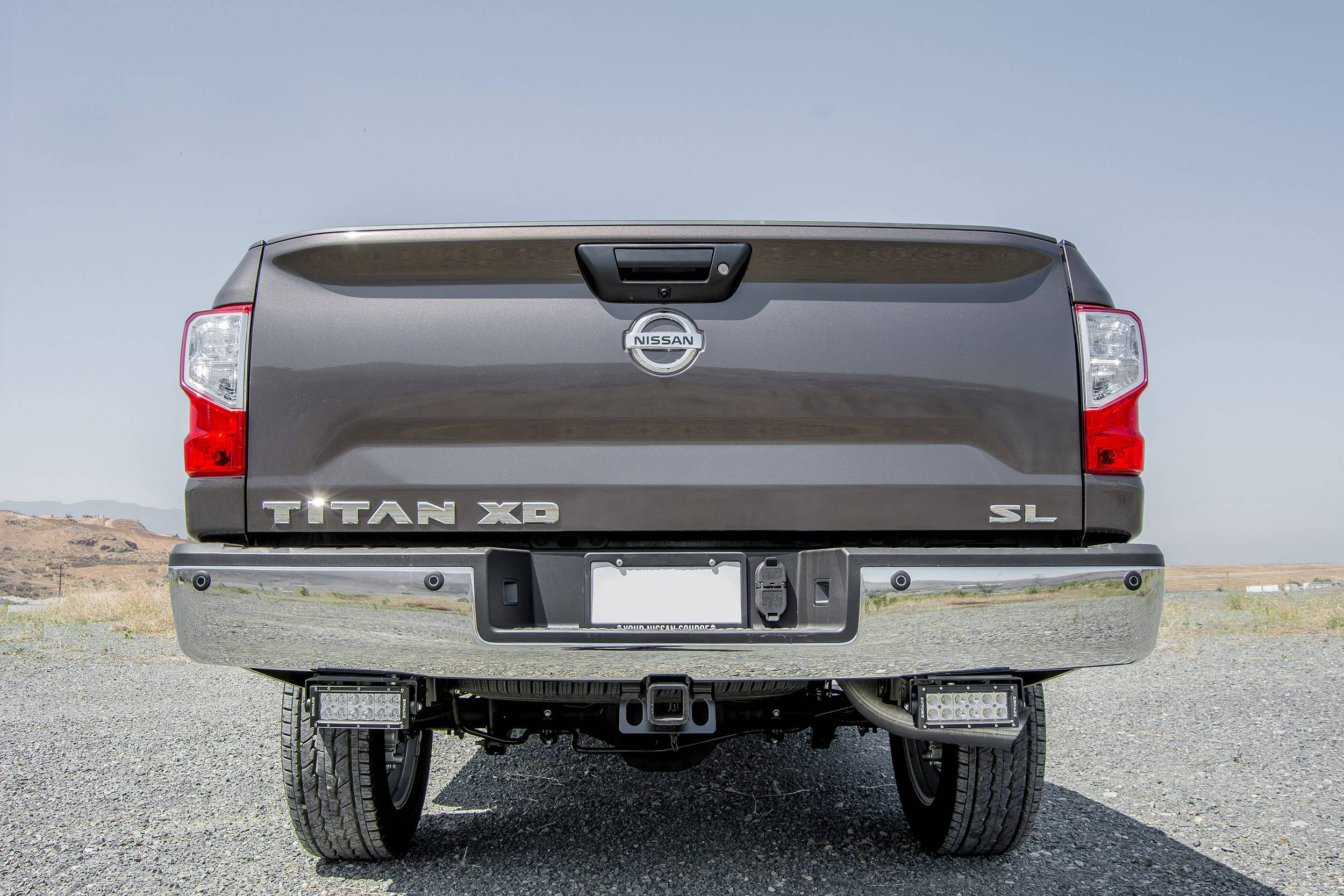 2016-2019 Nissan Titan Rear Bumper LED Bracket to mount (2) 6 Inch Straight Light Bar - PN #Z387581