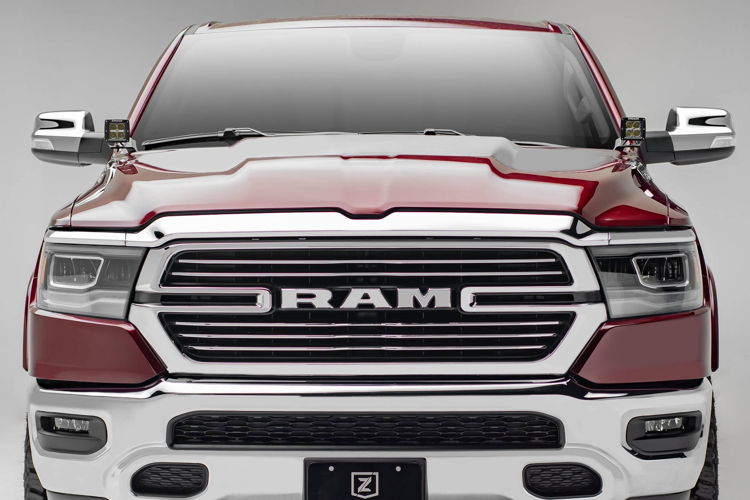 2019 Ram 1500 Hood Hinge LED Bracket to mount (2) 3 Inch LED Pod Lights - PN #Z364721
