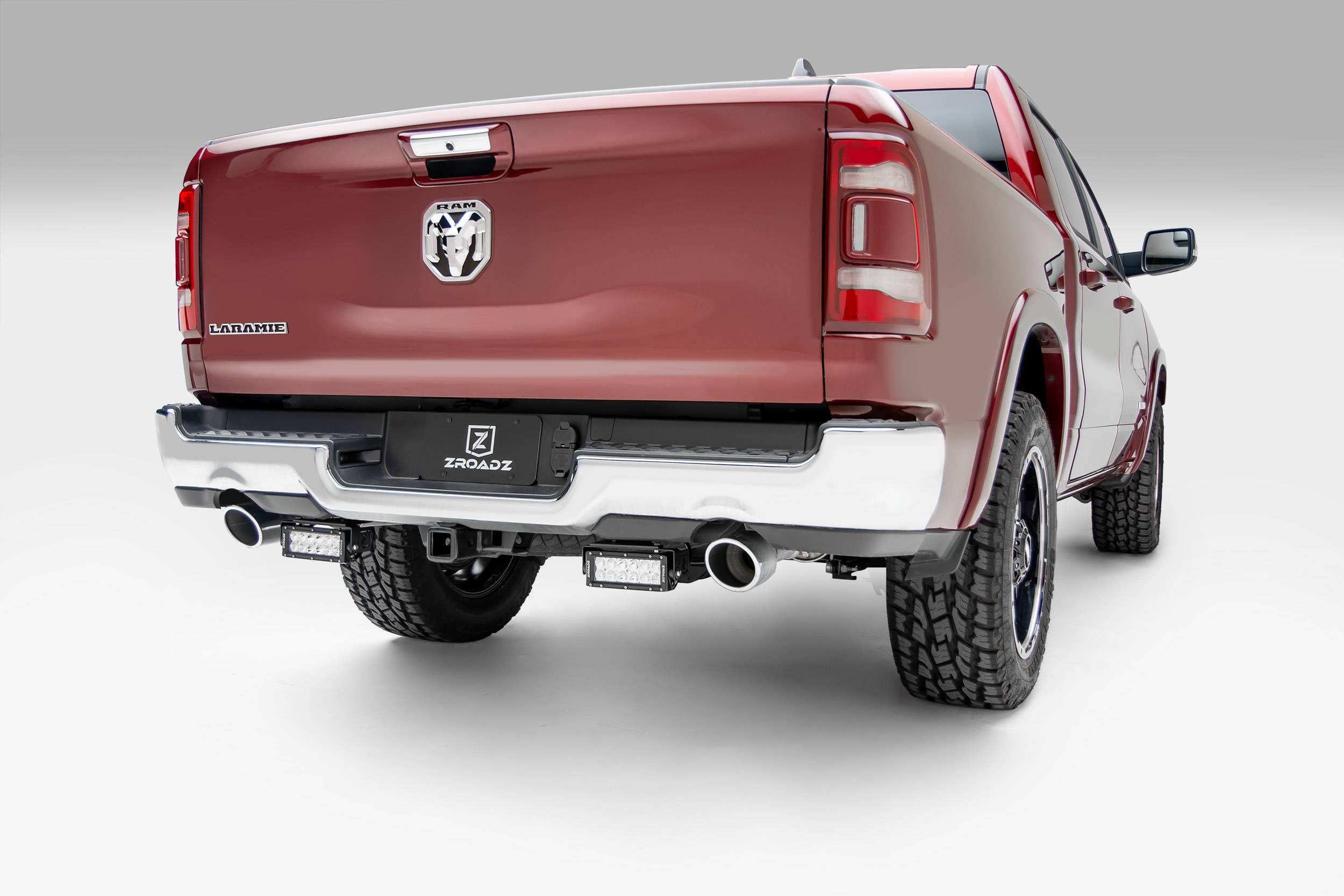 2019 Ram 1500 Rear Bumper LED Kit, Incl. (2) 6 Inch LED Straight Double Row Light Bars - PN #Z384721-KIT